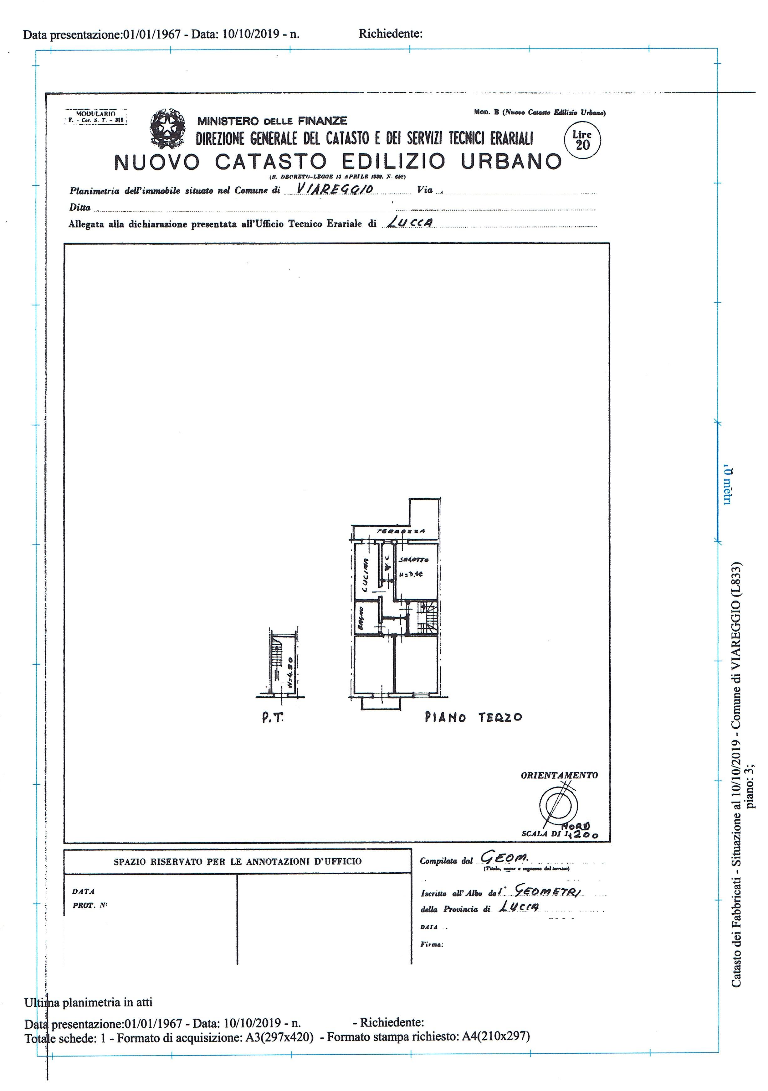 Planimetria 1/1 per rif. 3219V3