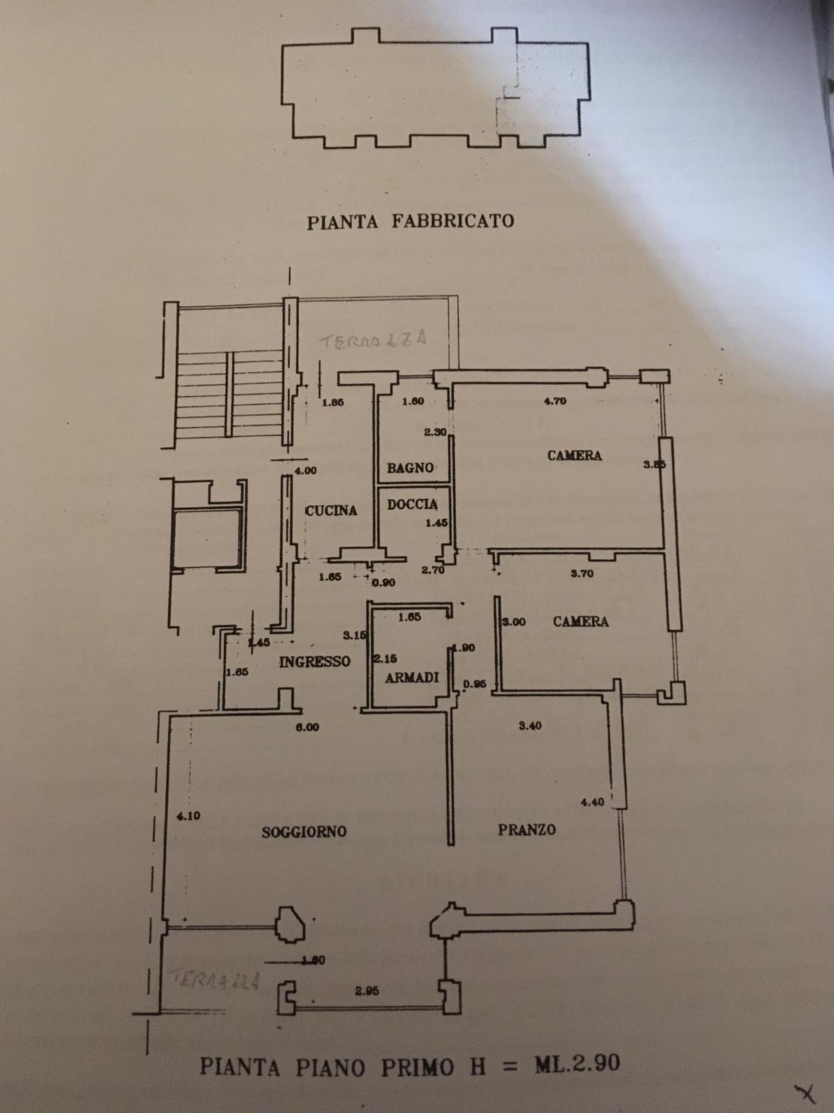 Planimetria 1/1 per rif. 3255V1