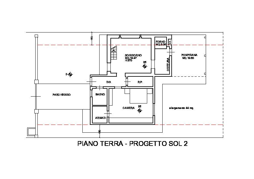 Planimetria 2/4 per rif. 3247M1
