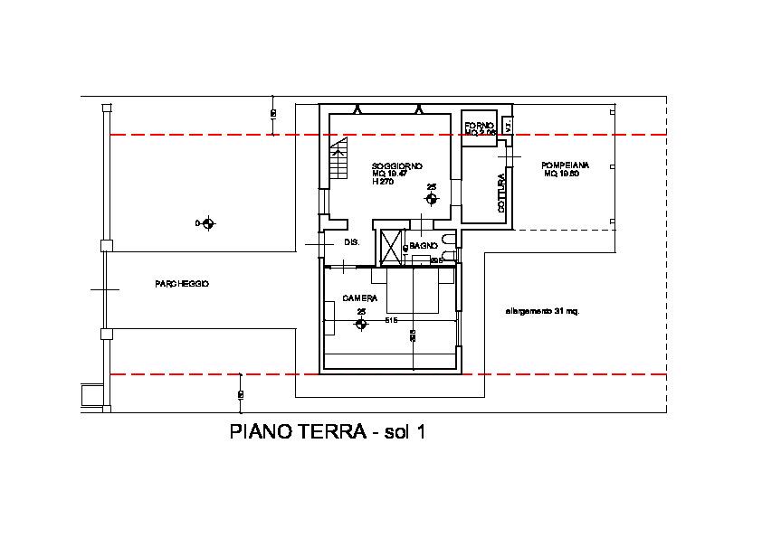 Planimetria 1/4 per rif. 3247M1