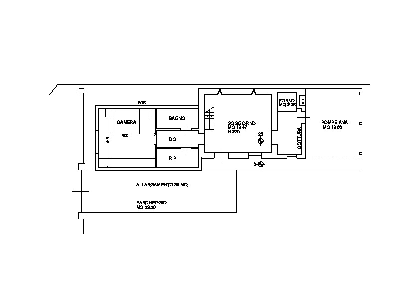 Planimetria 3/4 per rif. 3247M1