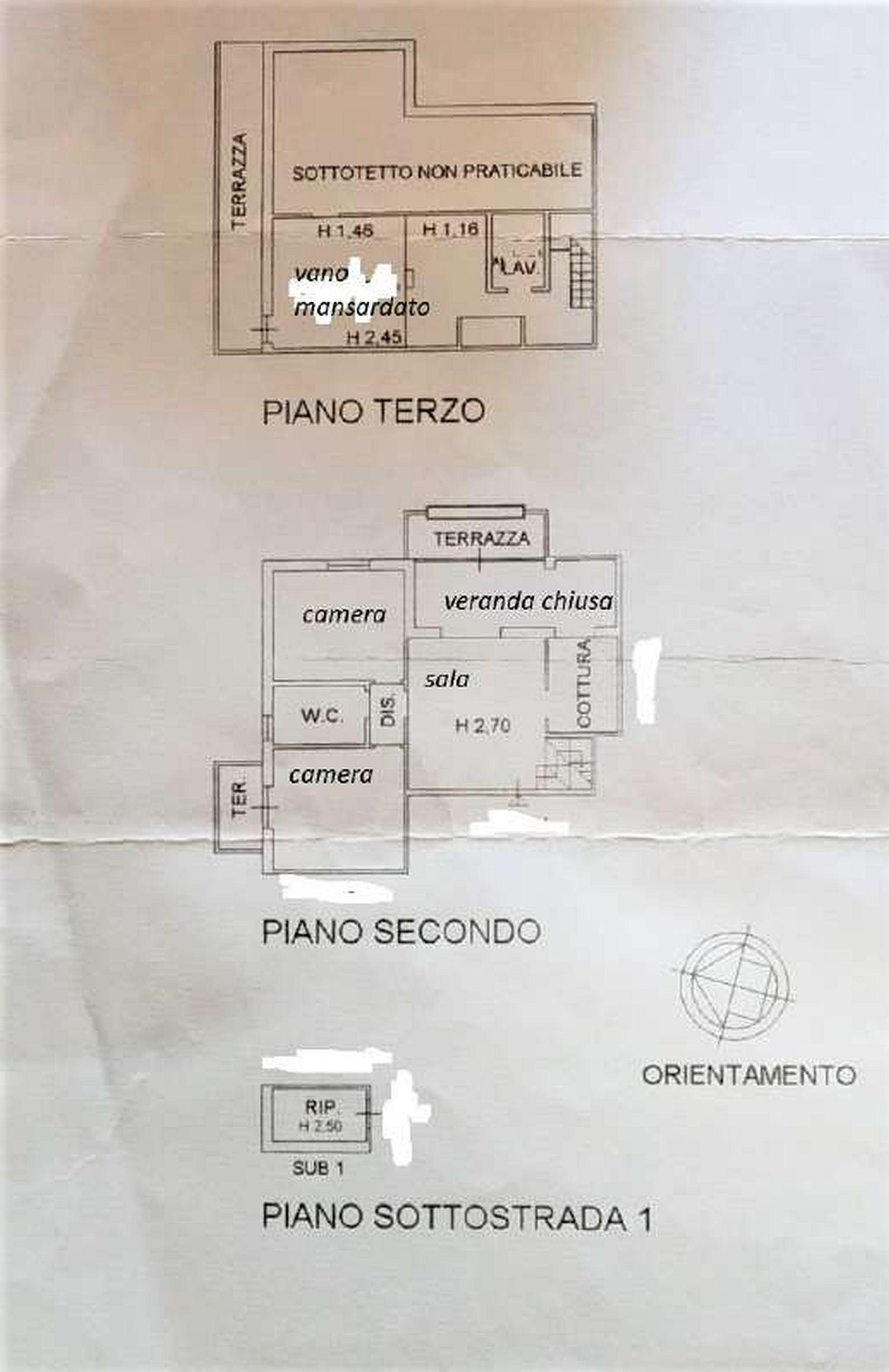 Planimetria 1/1 per rif. 3249V4