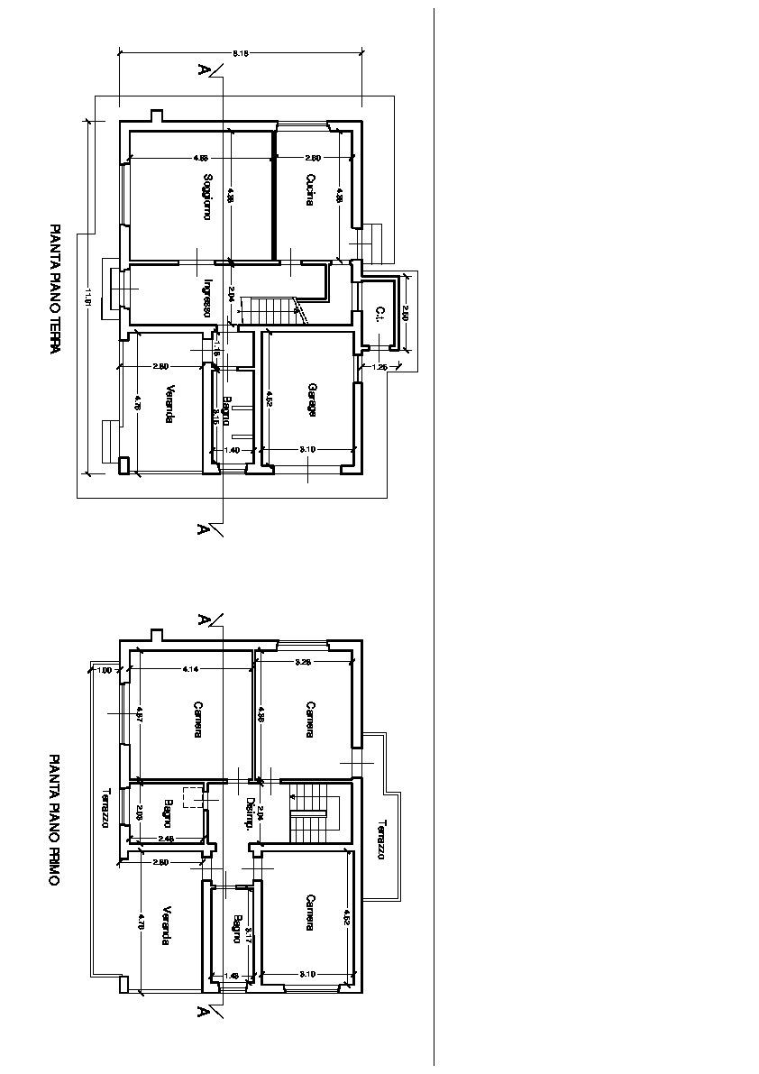 Planimetria 2/4 per rif. 2861C1