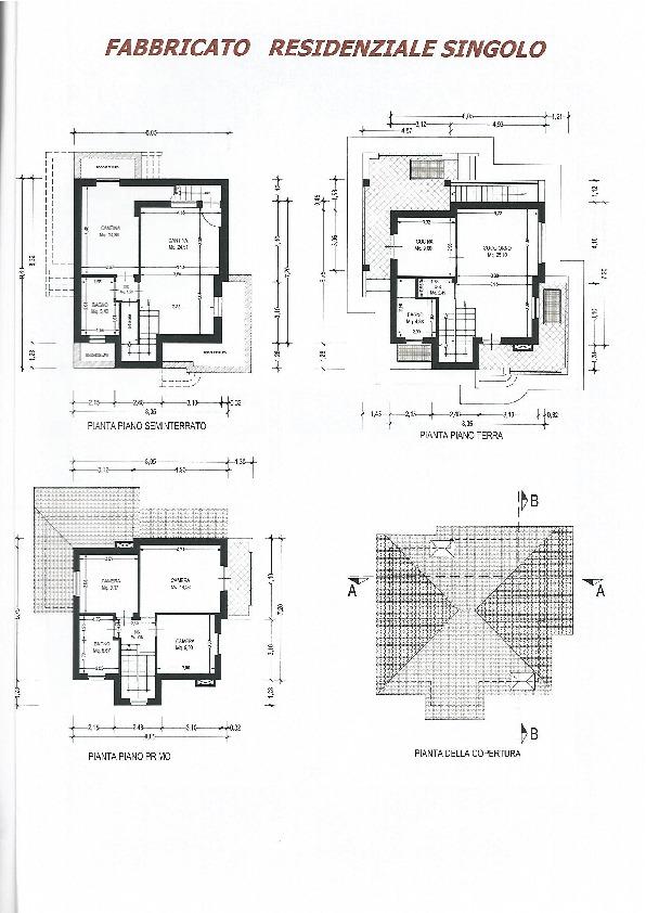 Planimetria 1/2 per rif. 3240CP