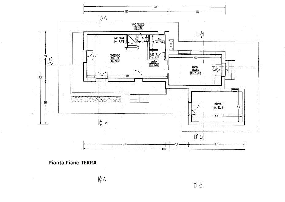 Planimetria 1/2 per rif. 3061P1
