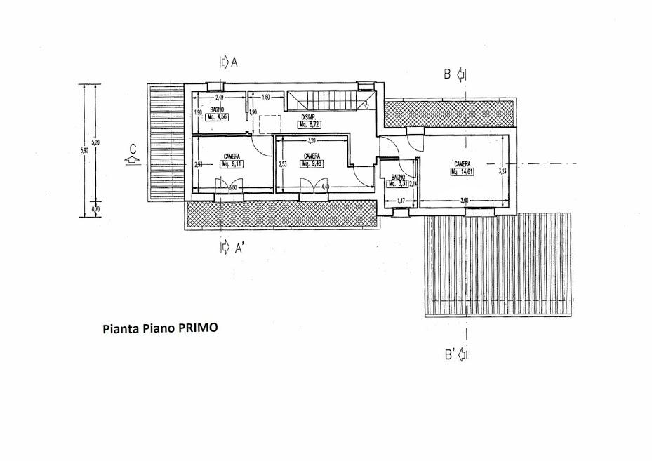 Planimetria 2/2 per rif. 3061P1
