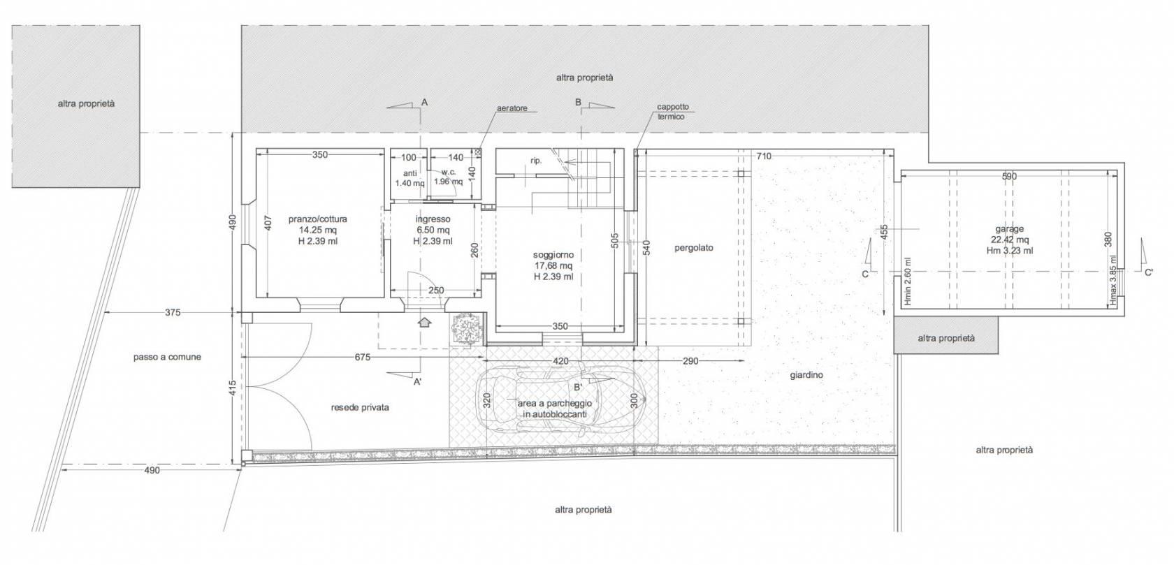 Planimetria 1/2 per rif. 3272CP