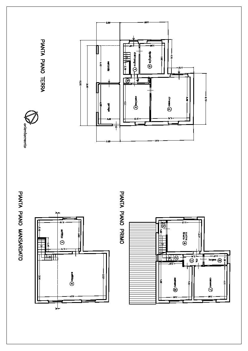Planimetria 1/1 per rif. 3274C1