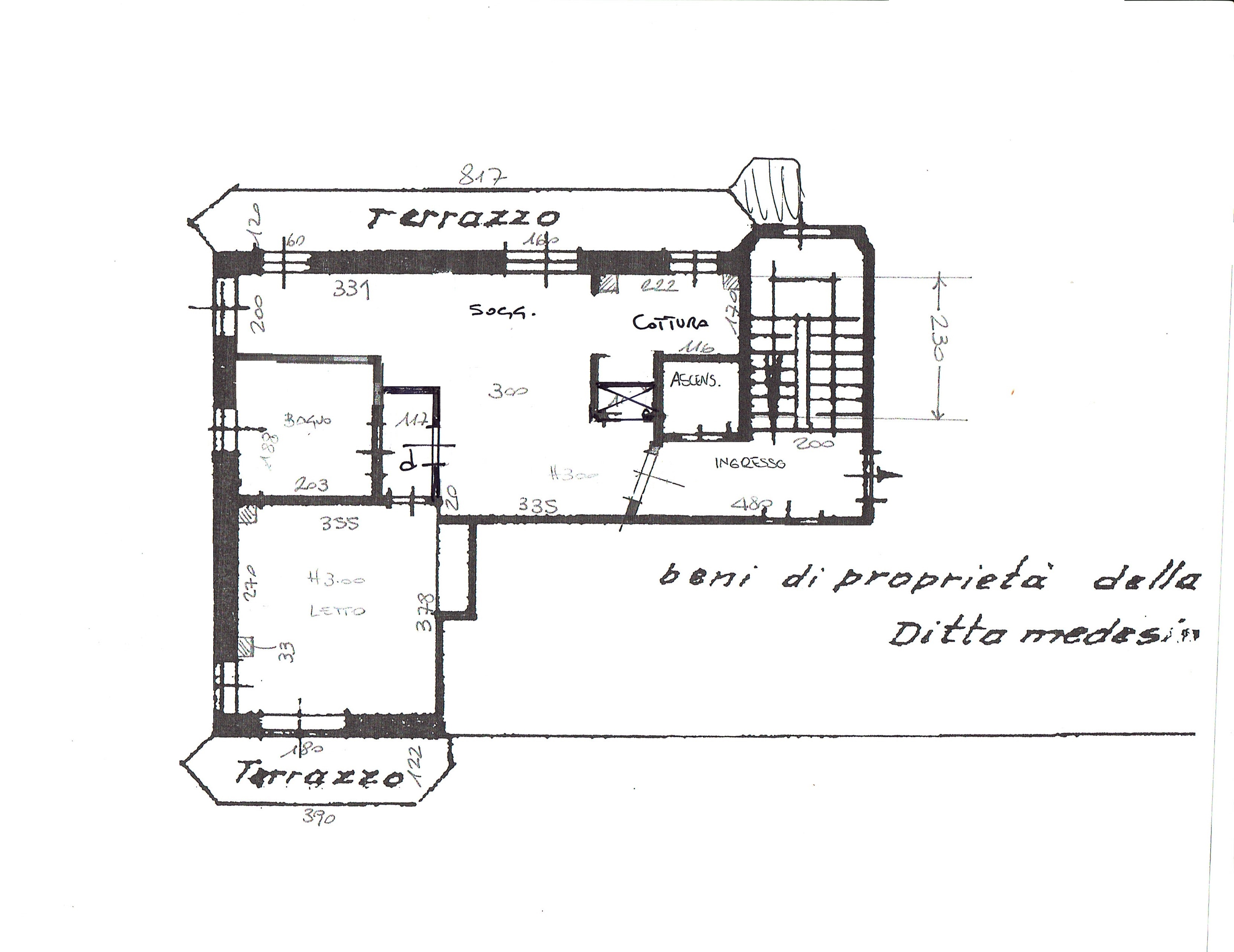 Planimetria 1/3 per rif. 3286V2