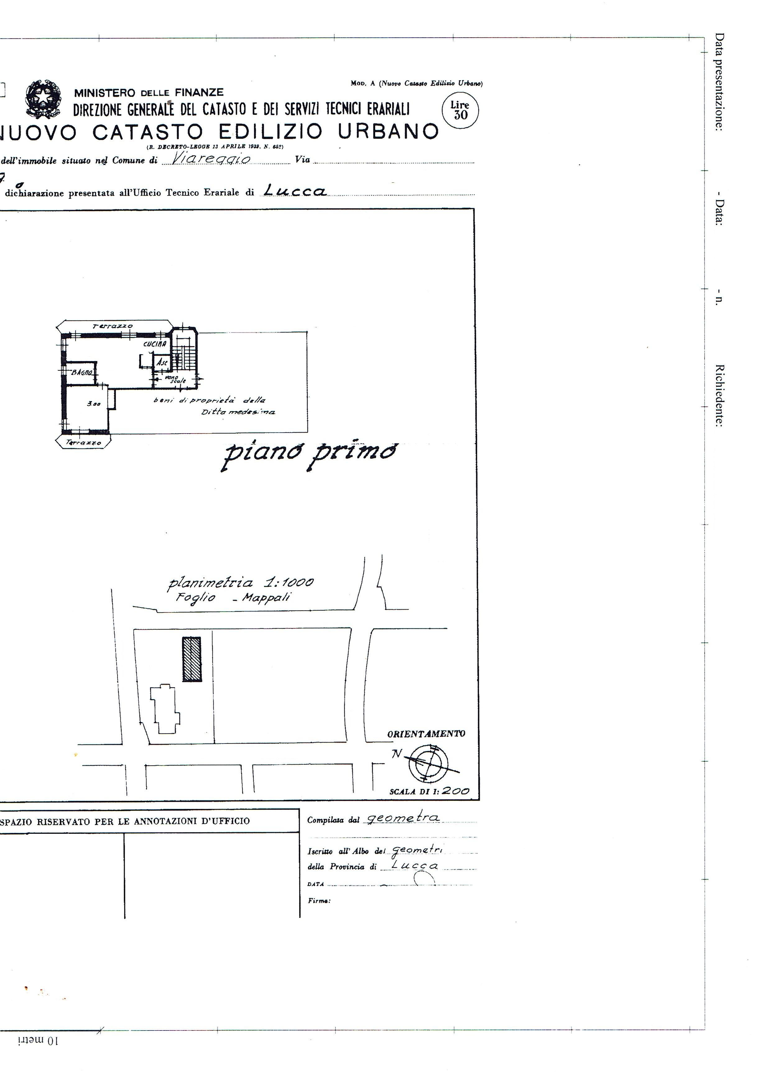 Planimetria 2/3 per rif. 3286V2