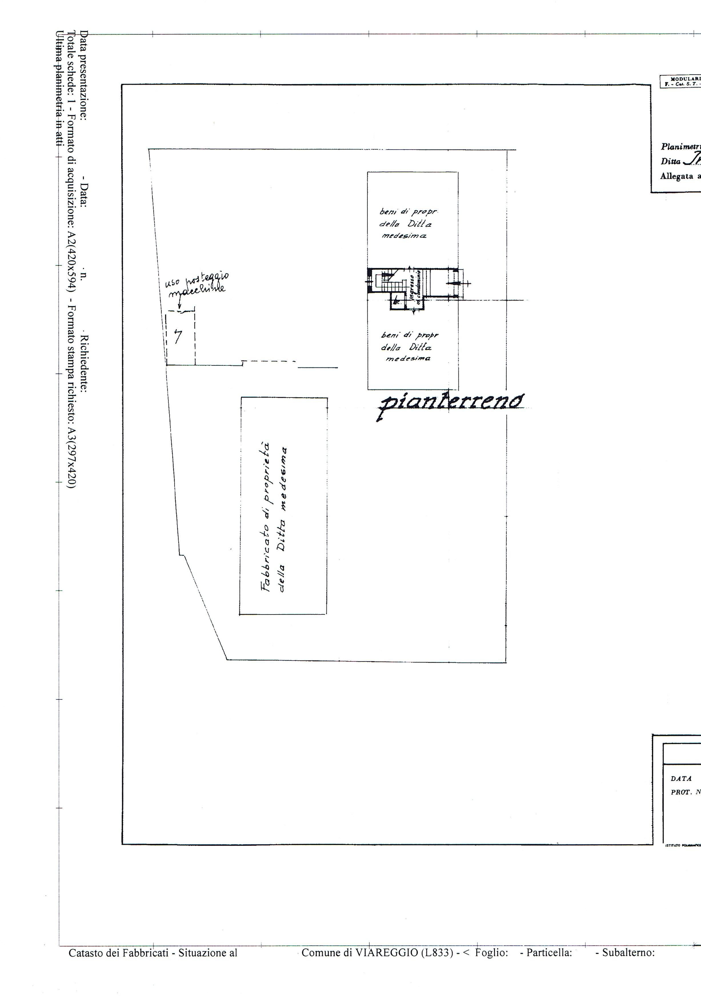 Planimetria 3/3 per rif. 3286V2