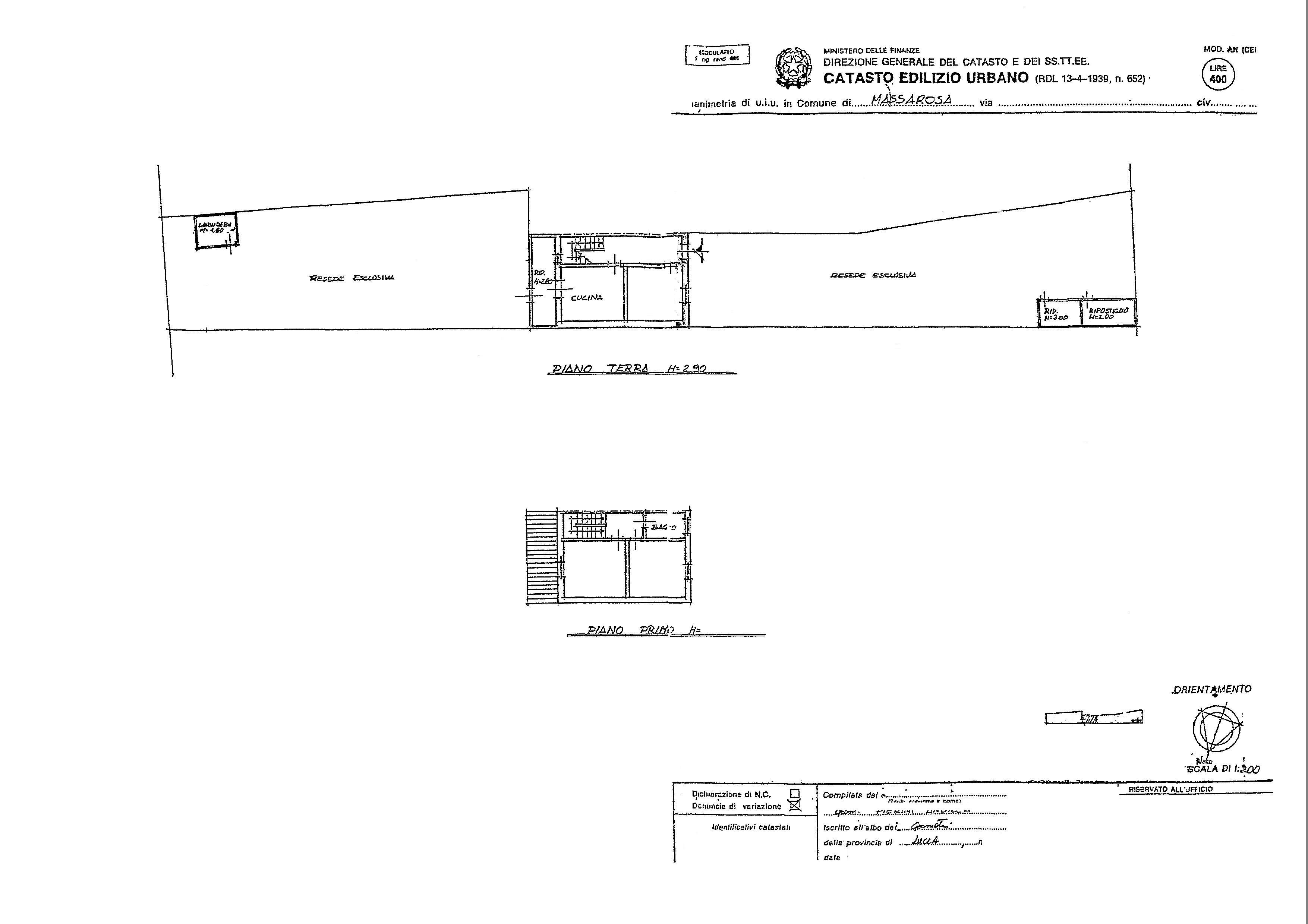 Planimetria 1/1 per rif. 2711M1