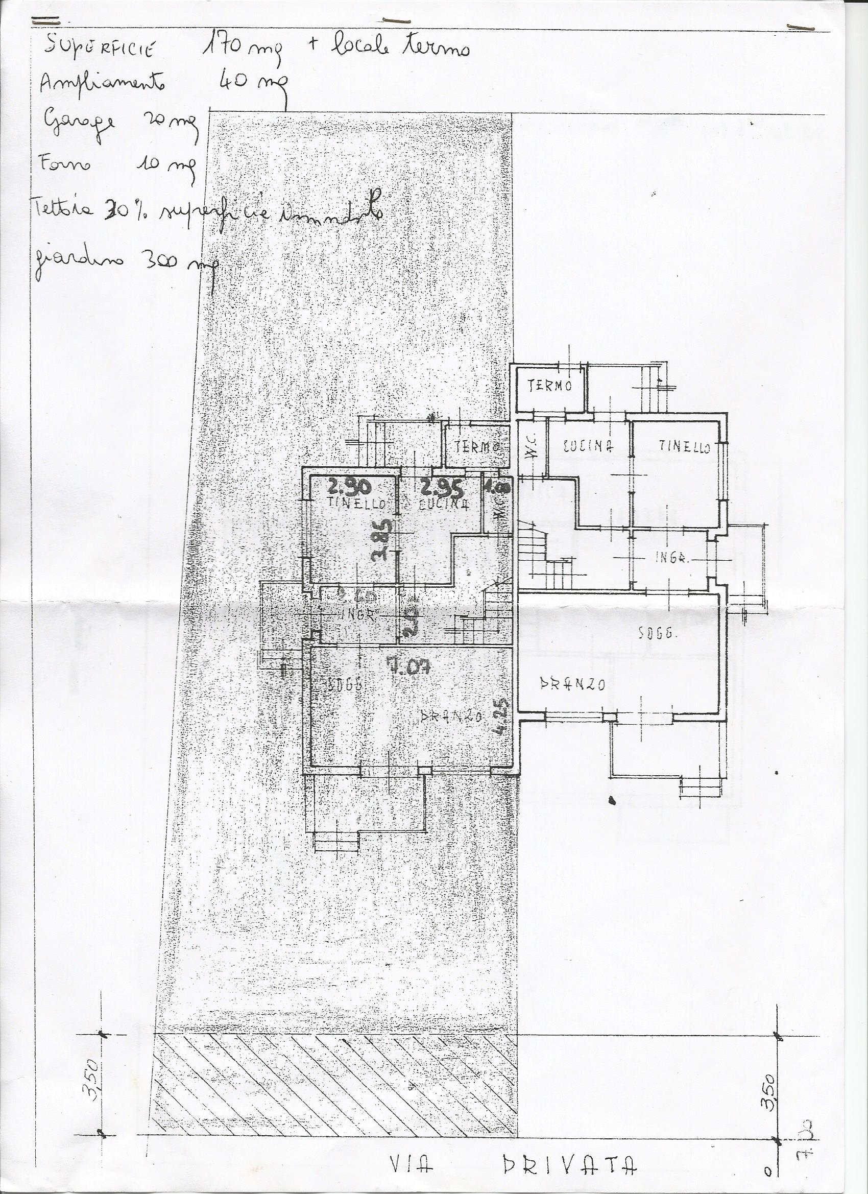 Planimetria 1/2 per rif. 3298LC