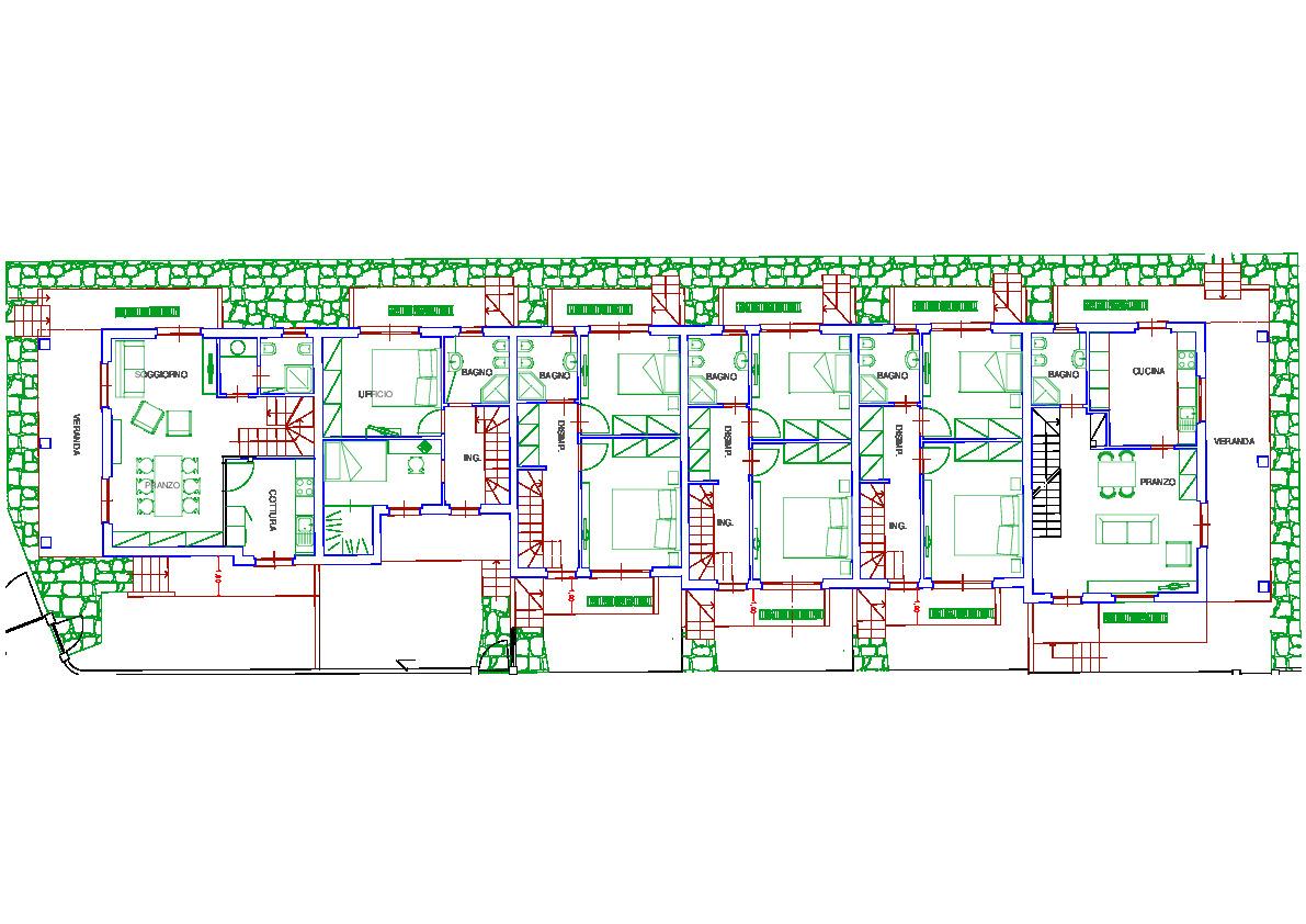 Planimetria 1/5 per rif. 3302CP