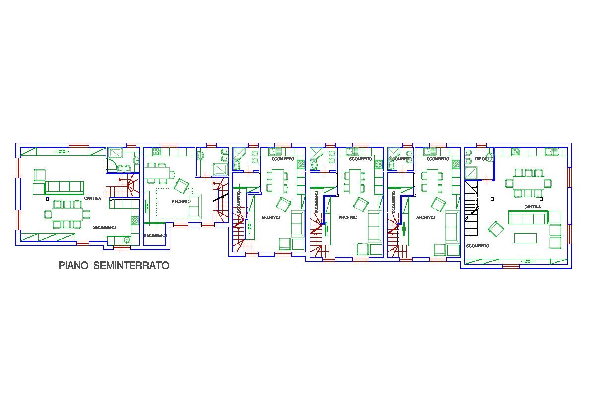 Planimetria 3/5 per rif. 3302CP