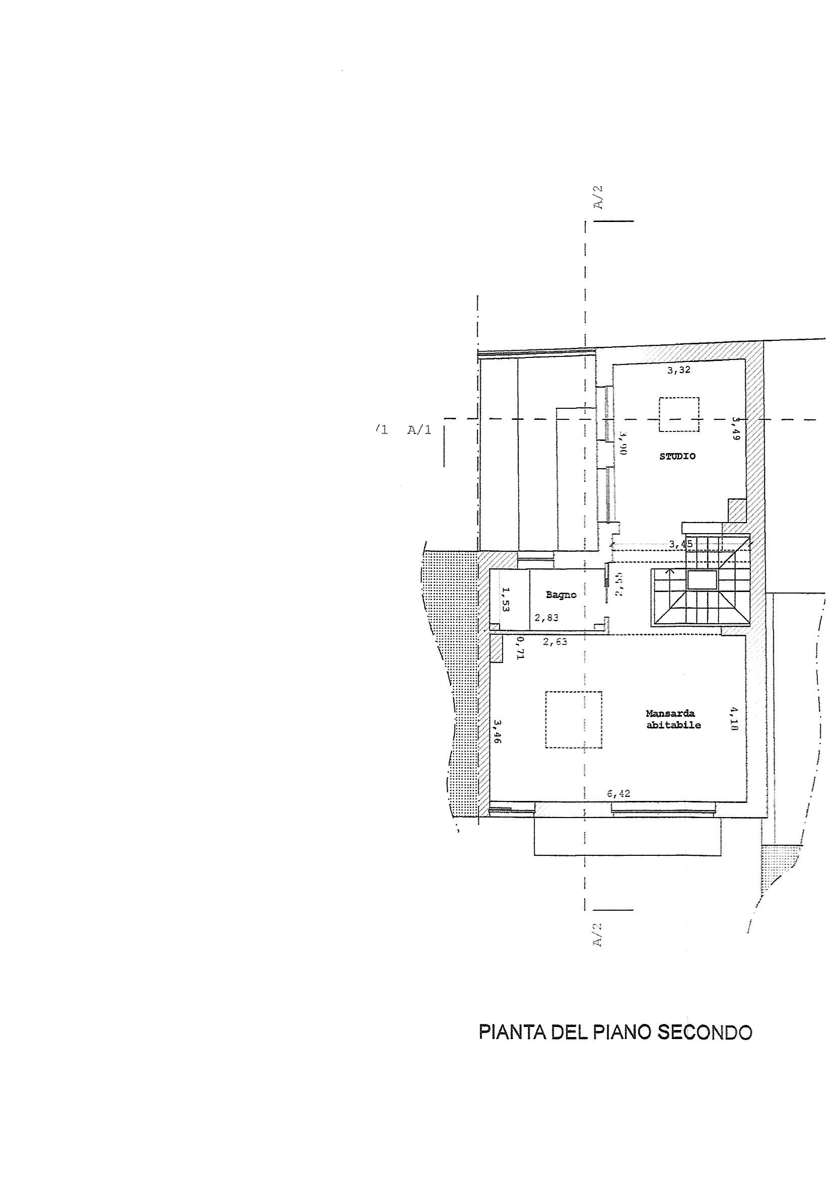 Planimetria 3/4 per rif. 3315V3