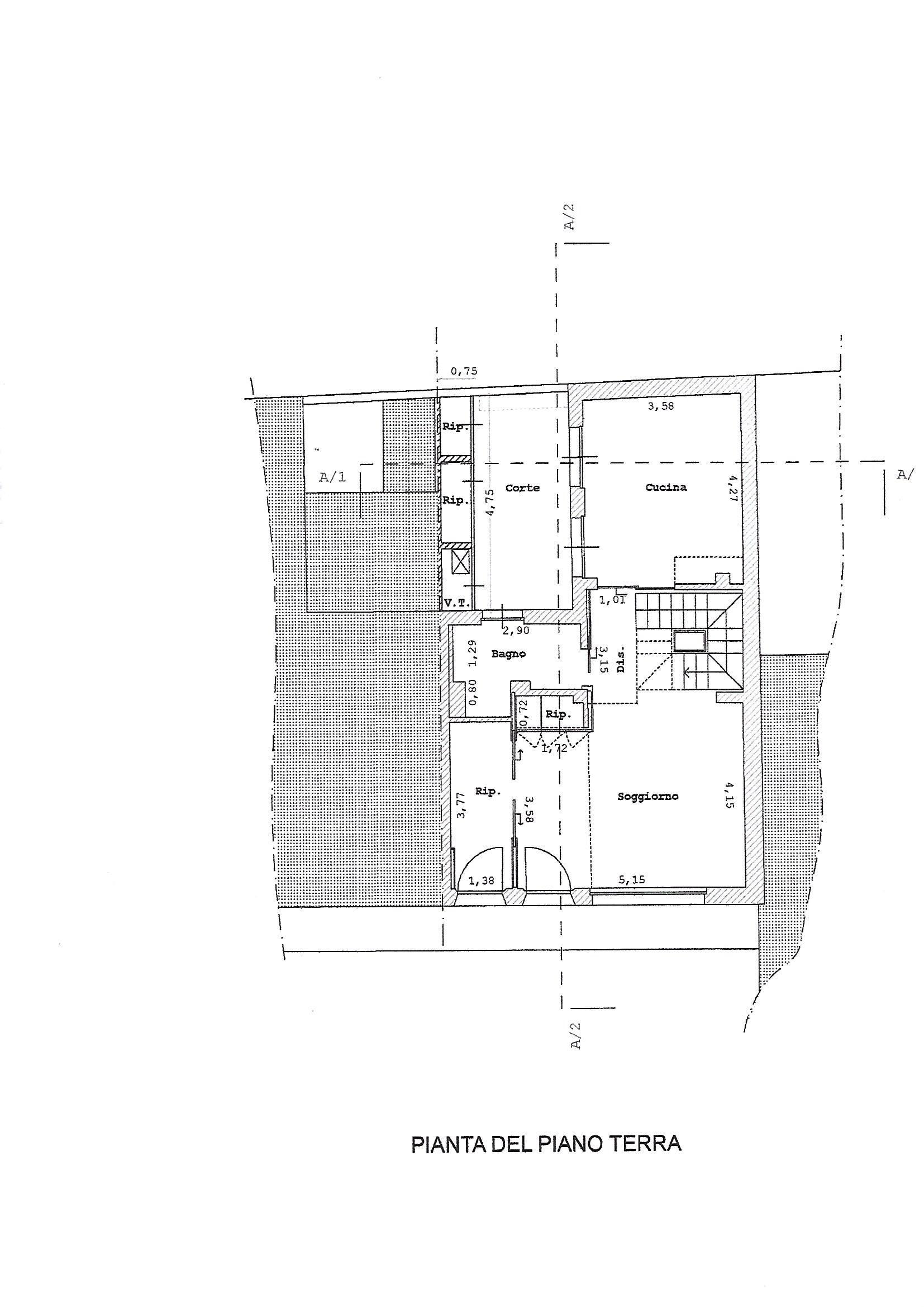 Planimetria 1/4 per rif. 3315V3