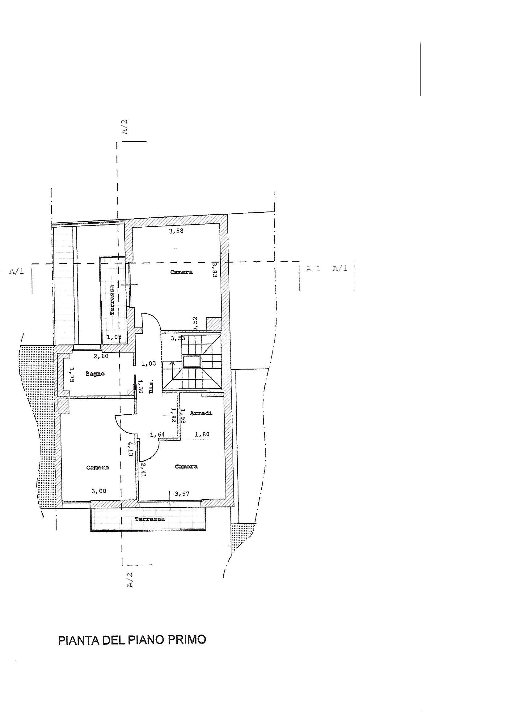 Planimetria 2/4 per rif. 3315V3
