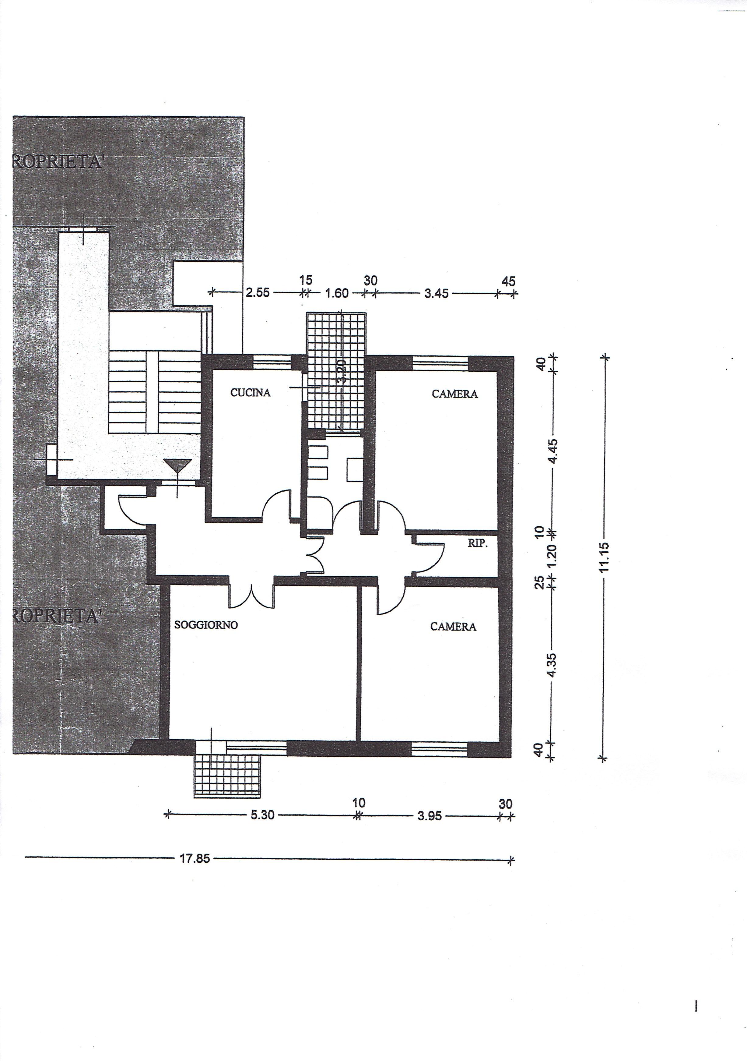 Planimetria 1/1 per rif. 3299V2