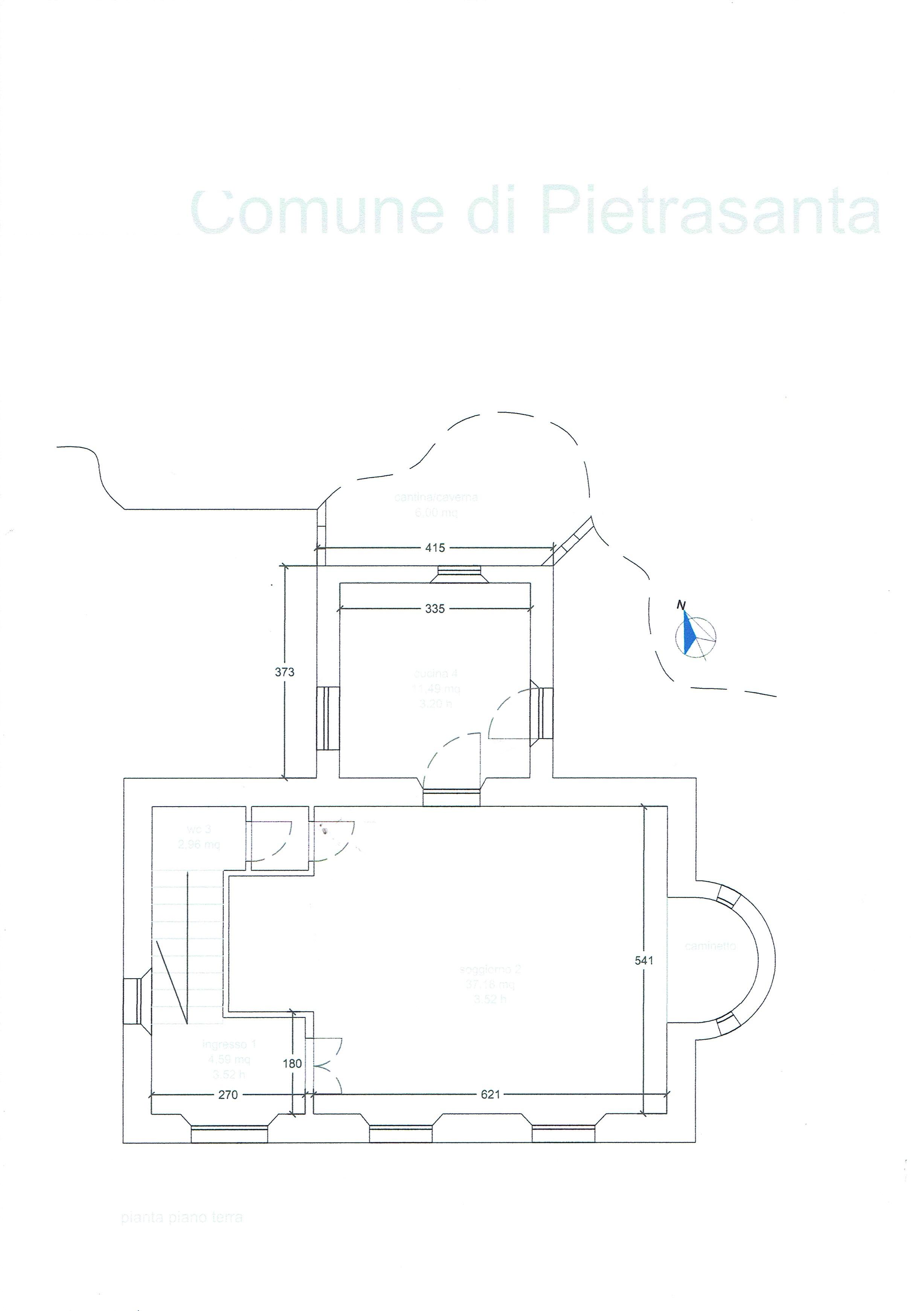 Planimetria 1/3 per rif. 3347P2