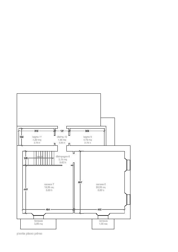 Planimetria 2/3 per rif. 3347P2