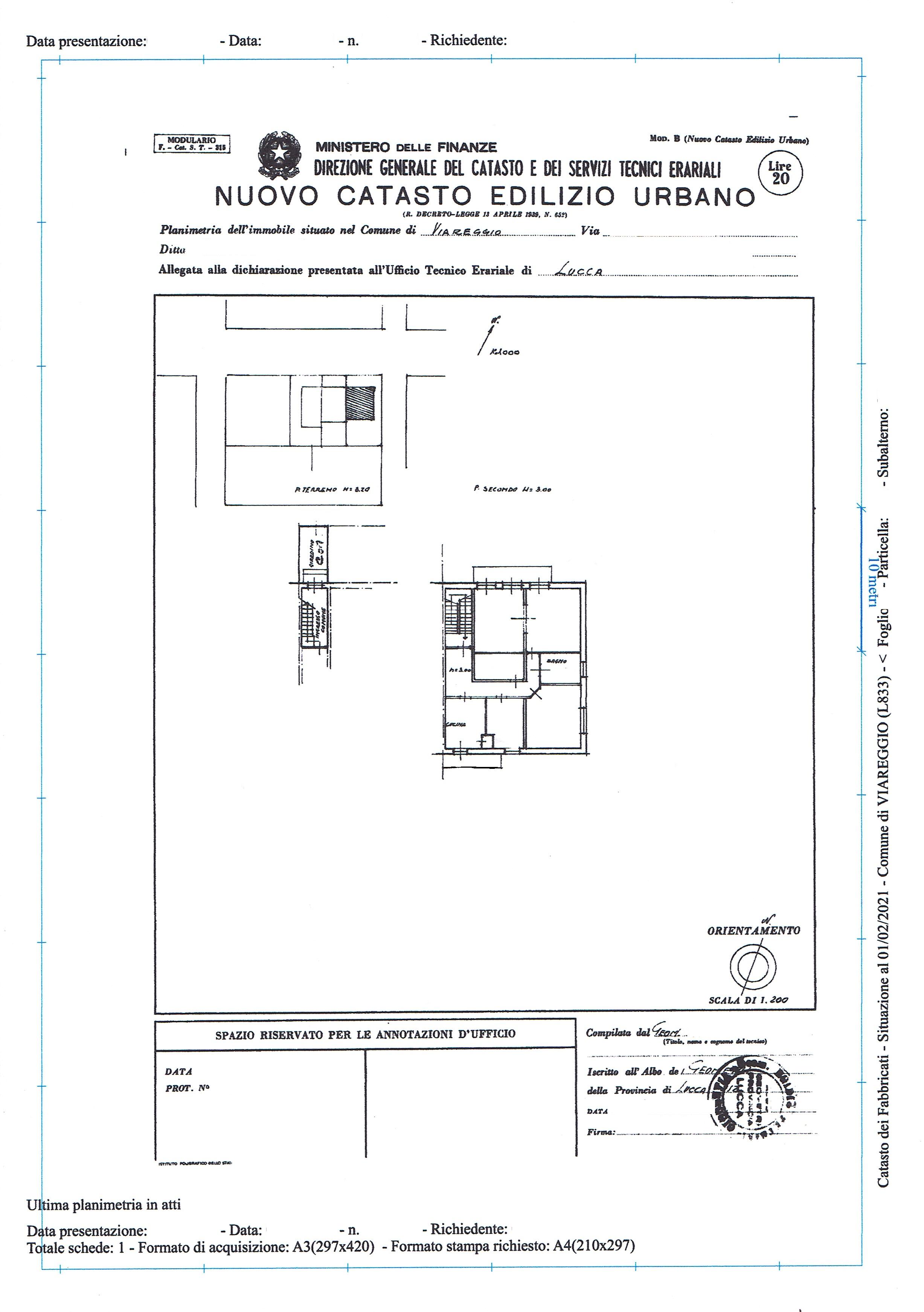 Planimetria 1/1 per rif. 3362V2