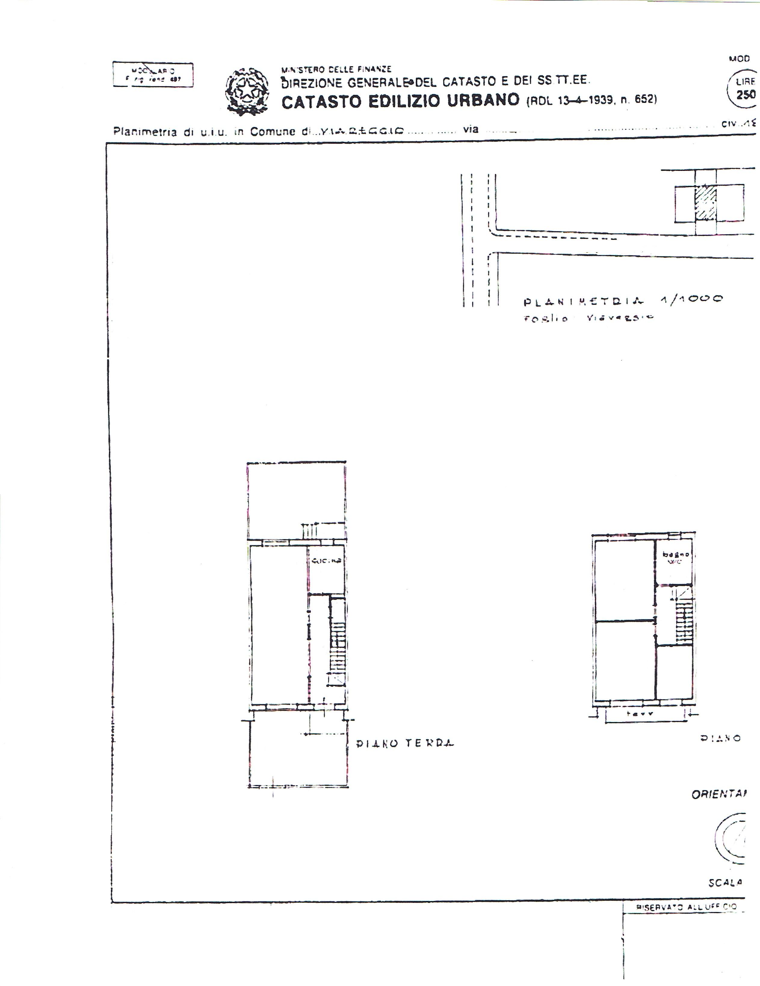 Planimetria 1/1 per rif. 3368V1