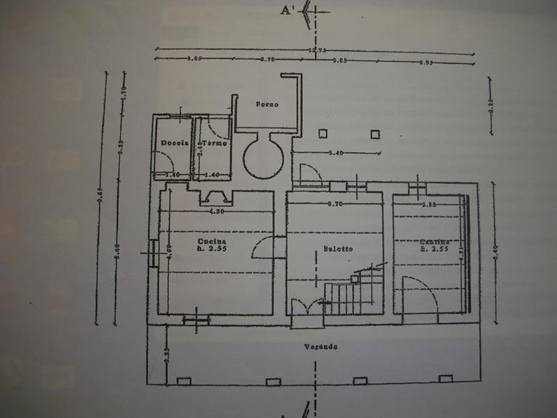 Planimetria 1/2 per rif. 3374CP