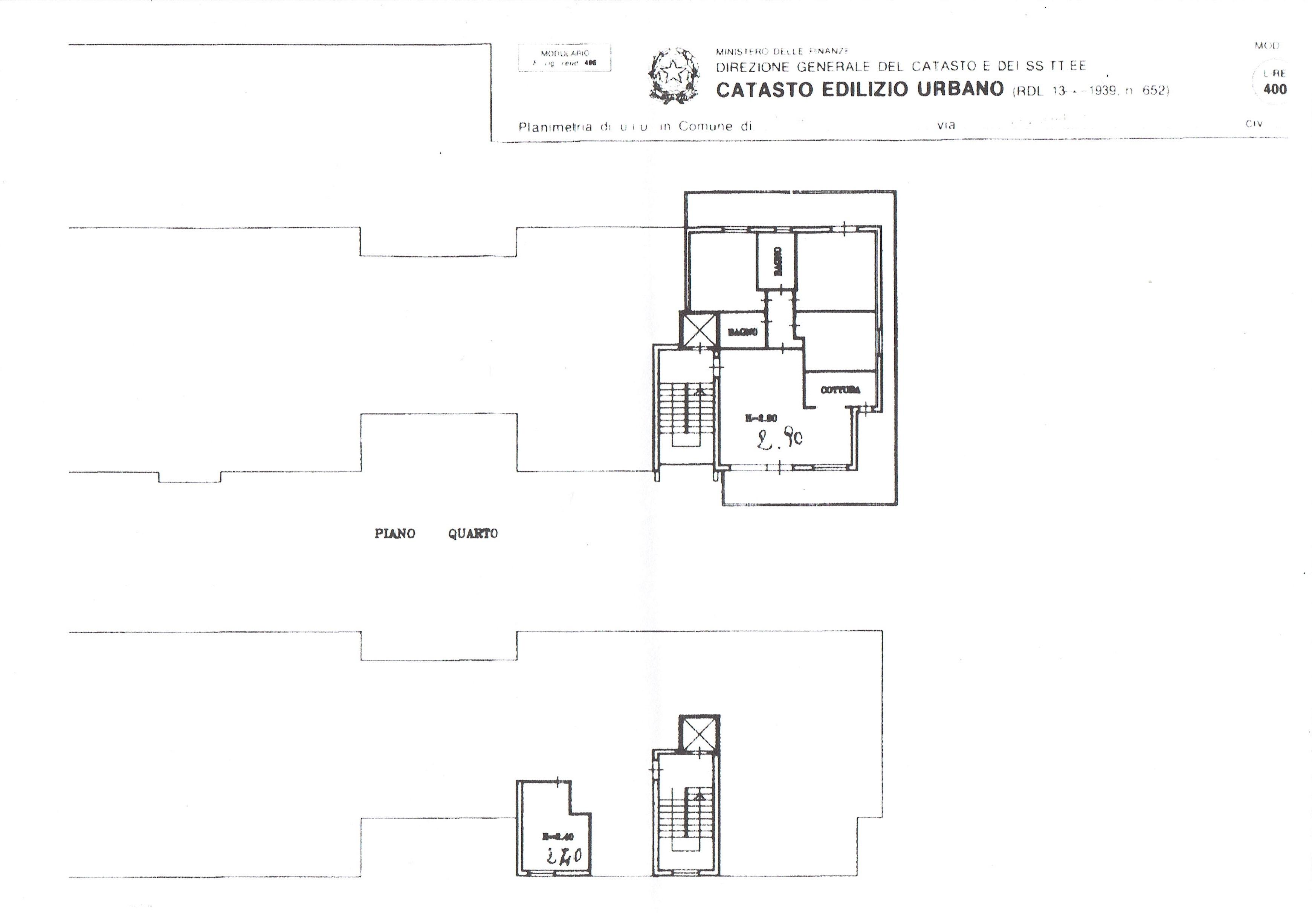 Planimetria 2/2 per rif. 3375V2