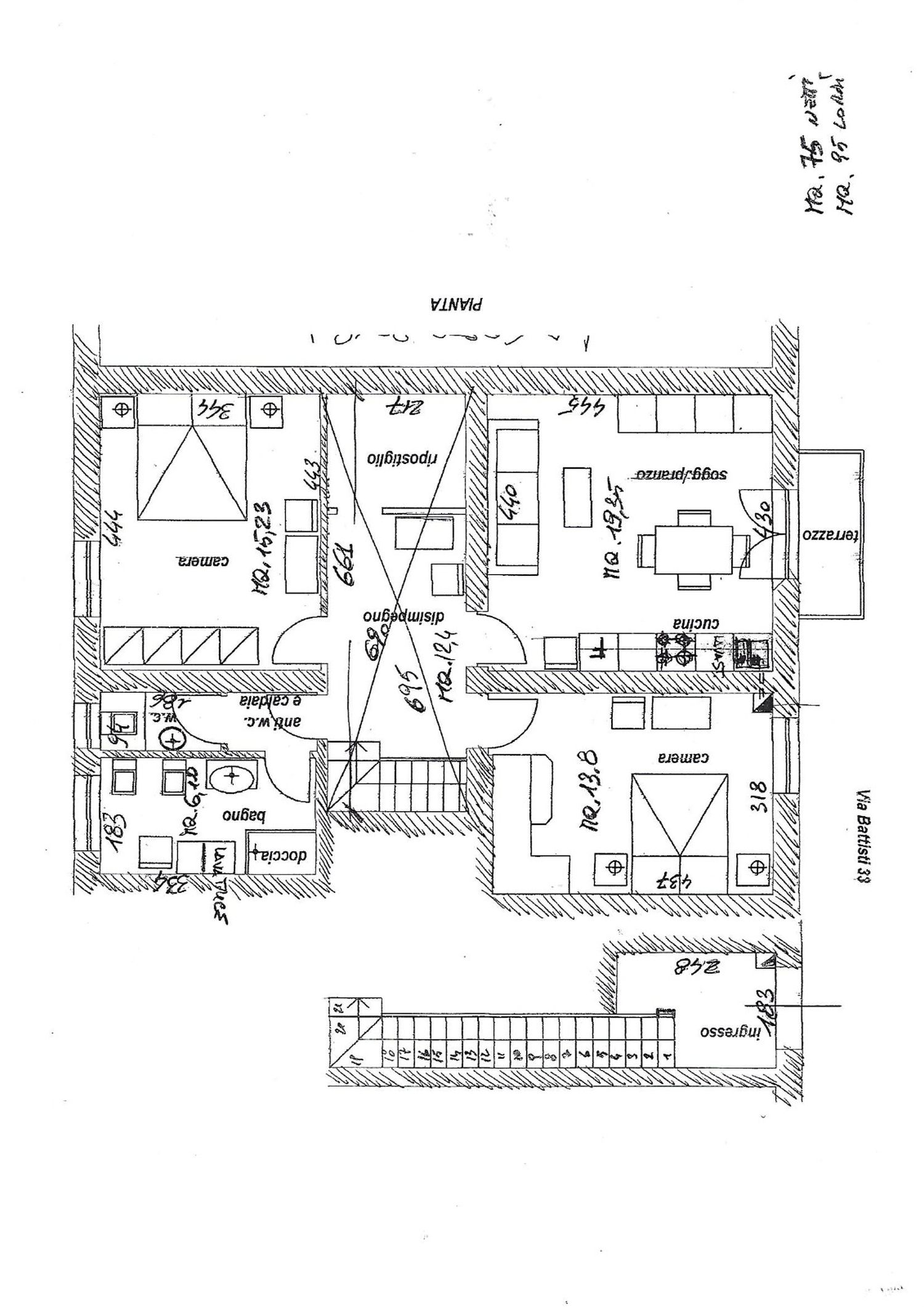 Planimetria 1/1 per rif. 3410V3