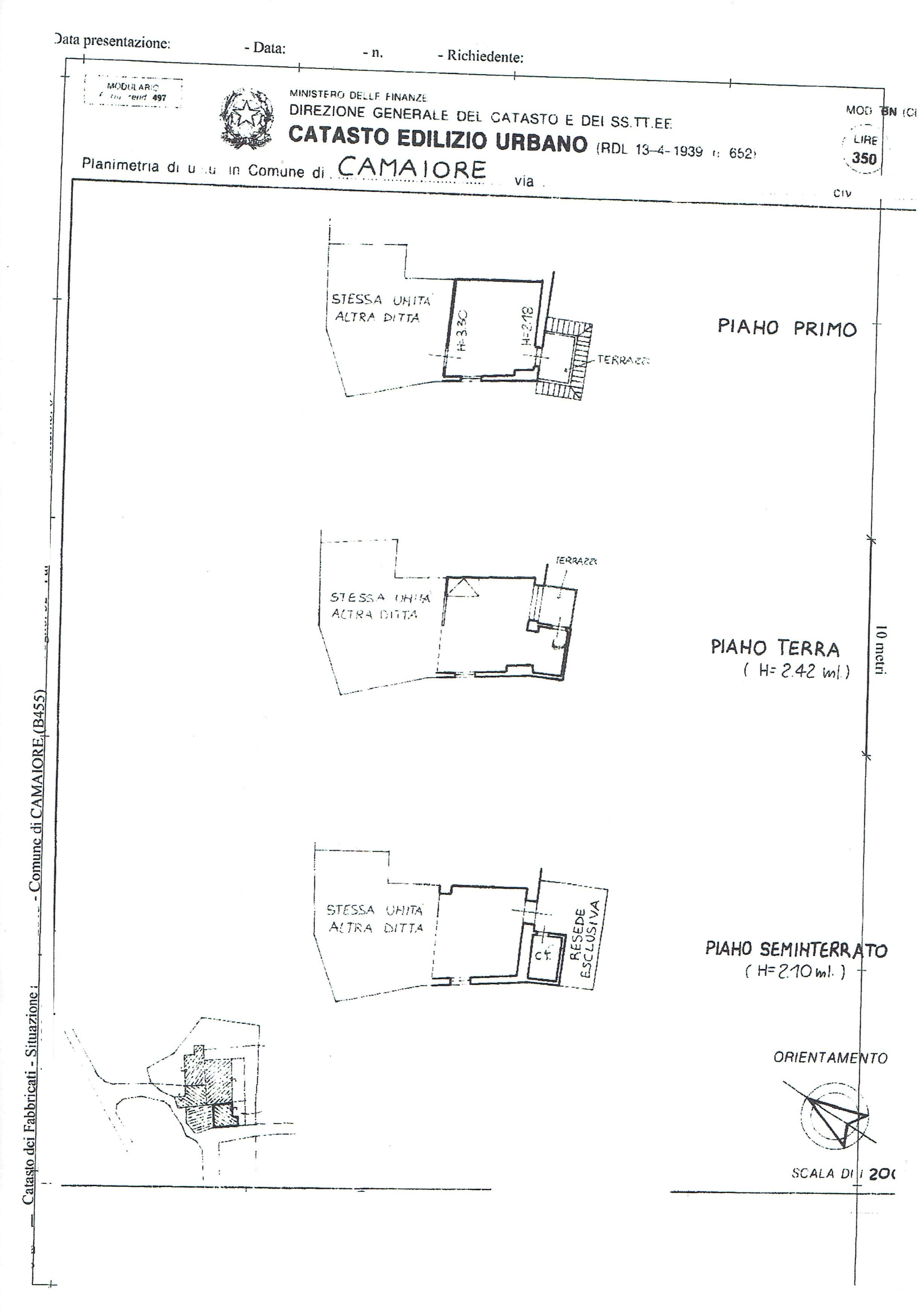 Planimetria 2/2 per rif. 3417C2