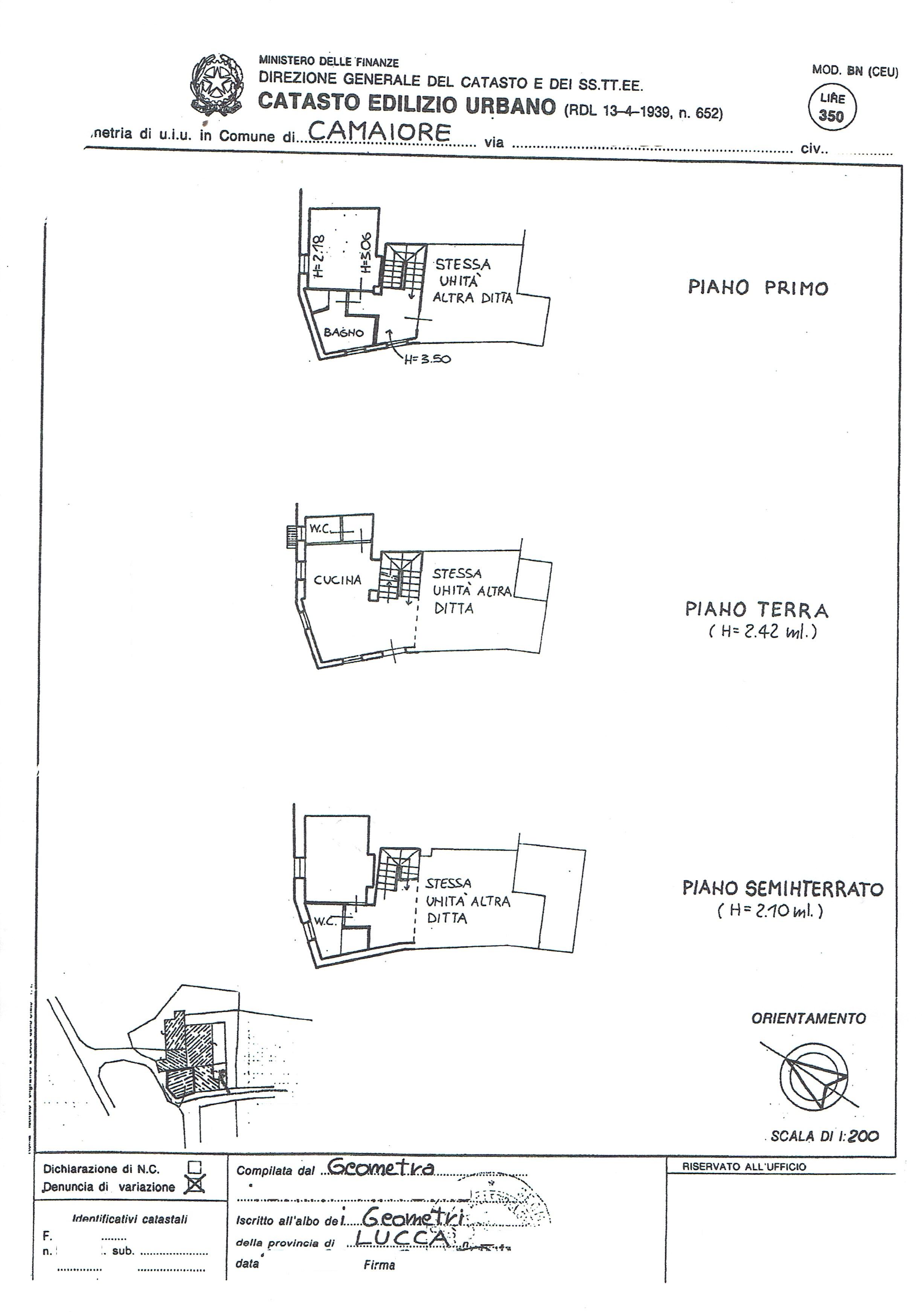 Planimetria 1/2 per rif. 3417C2