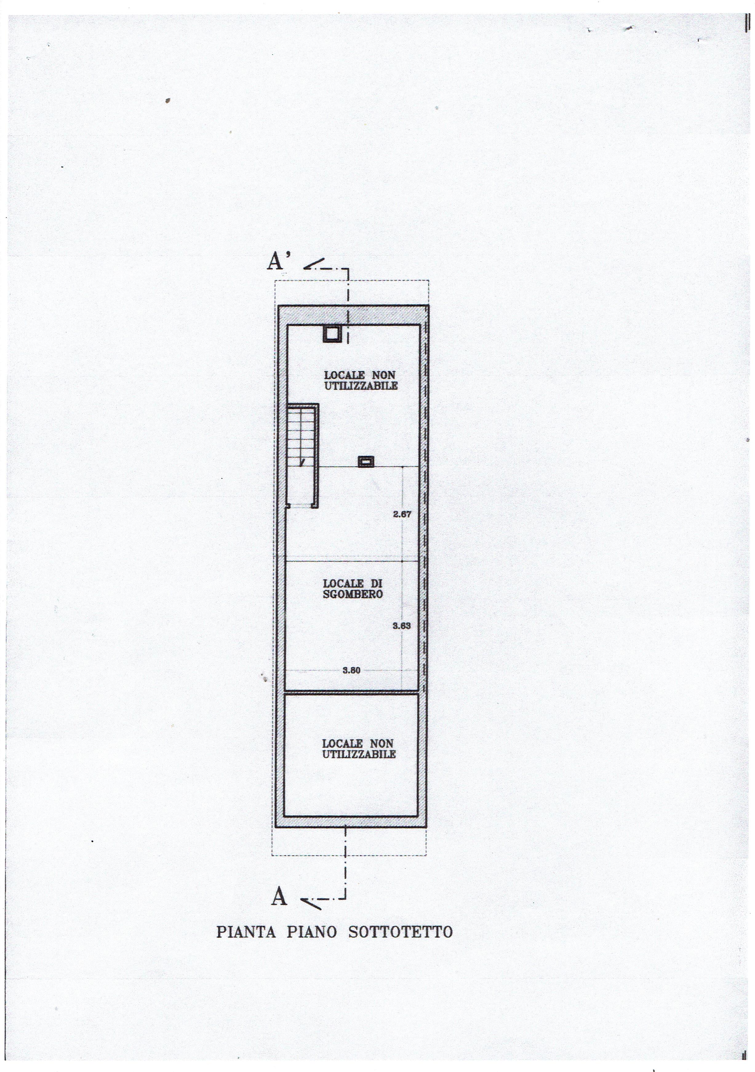 Planimetria 3/4 per rif. 3414V3