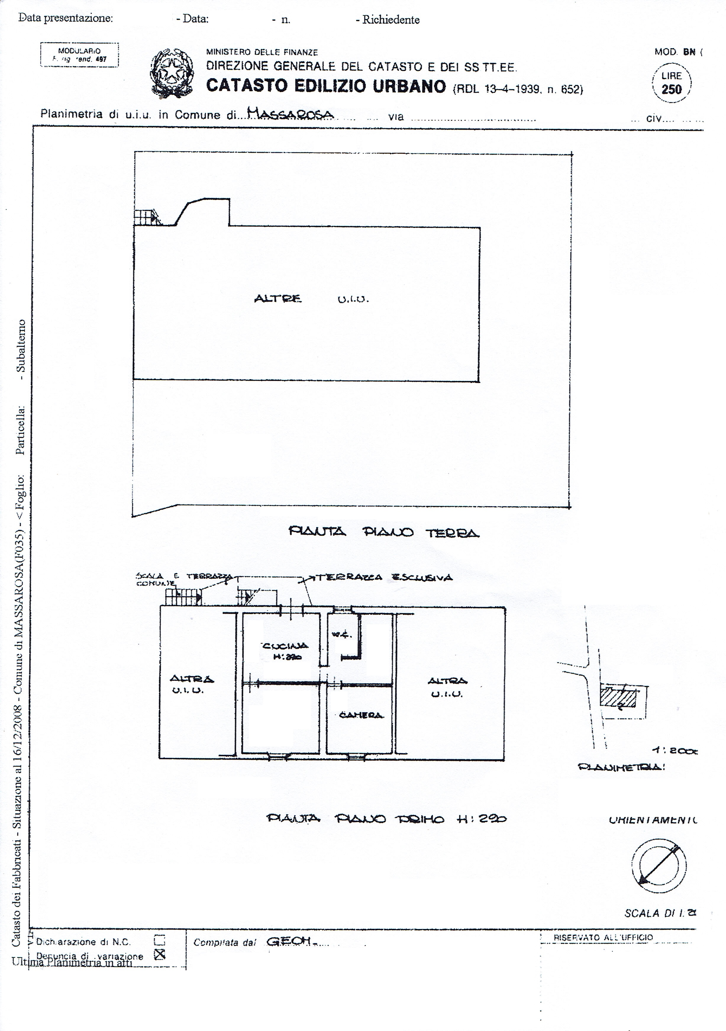 Planimetria 1/1 per rif. 3427M2