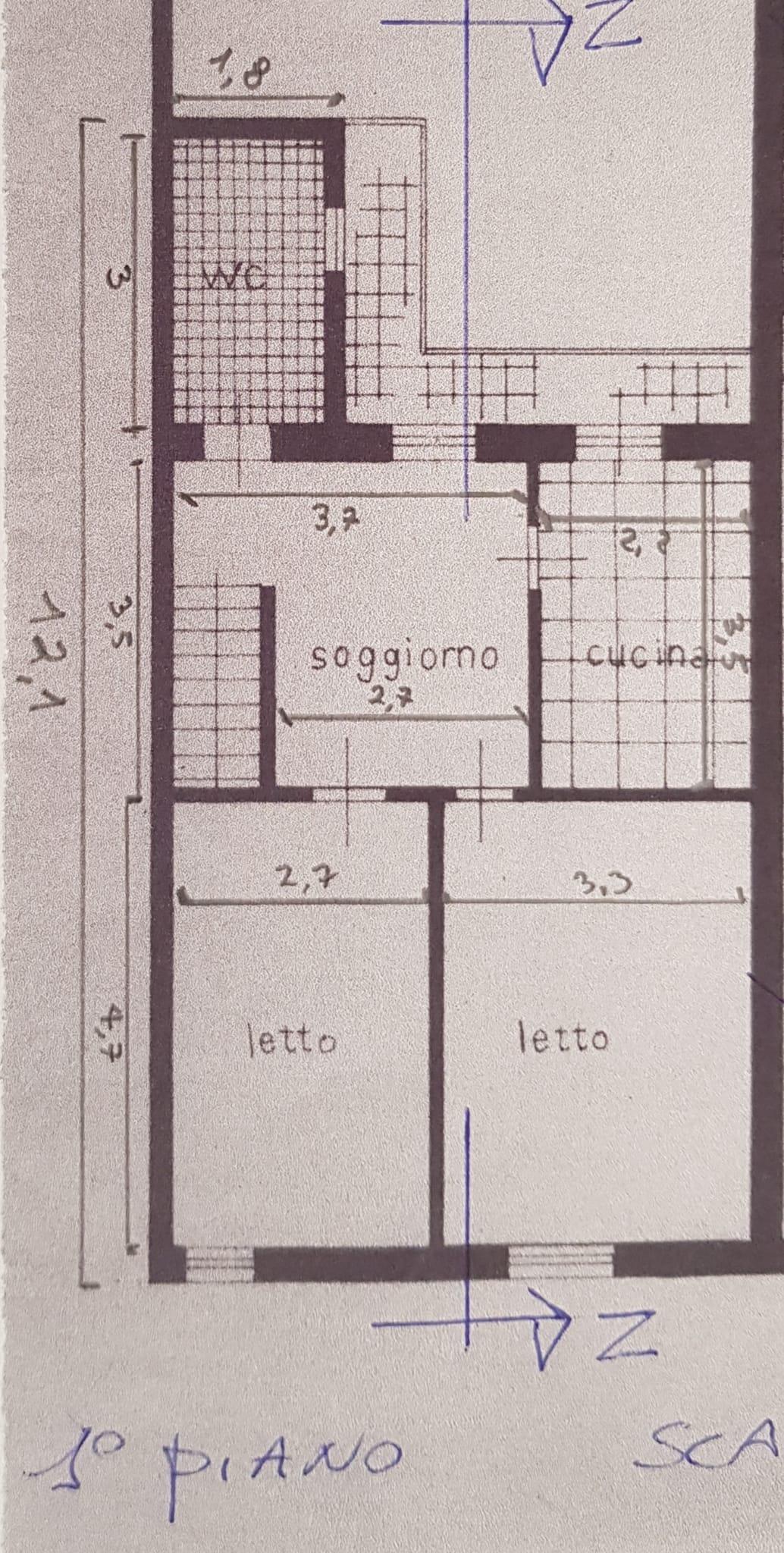Planimetria 1/3 per rif. 3430V3
