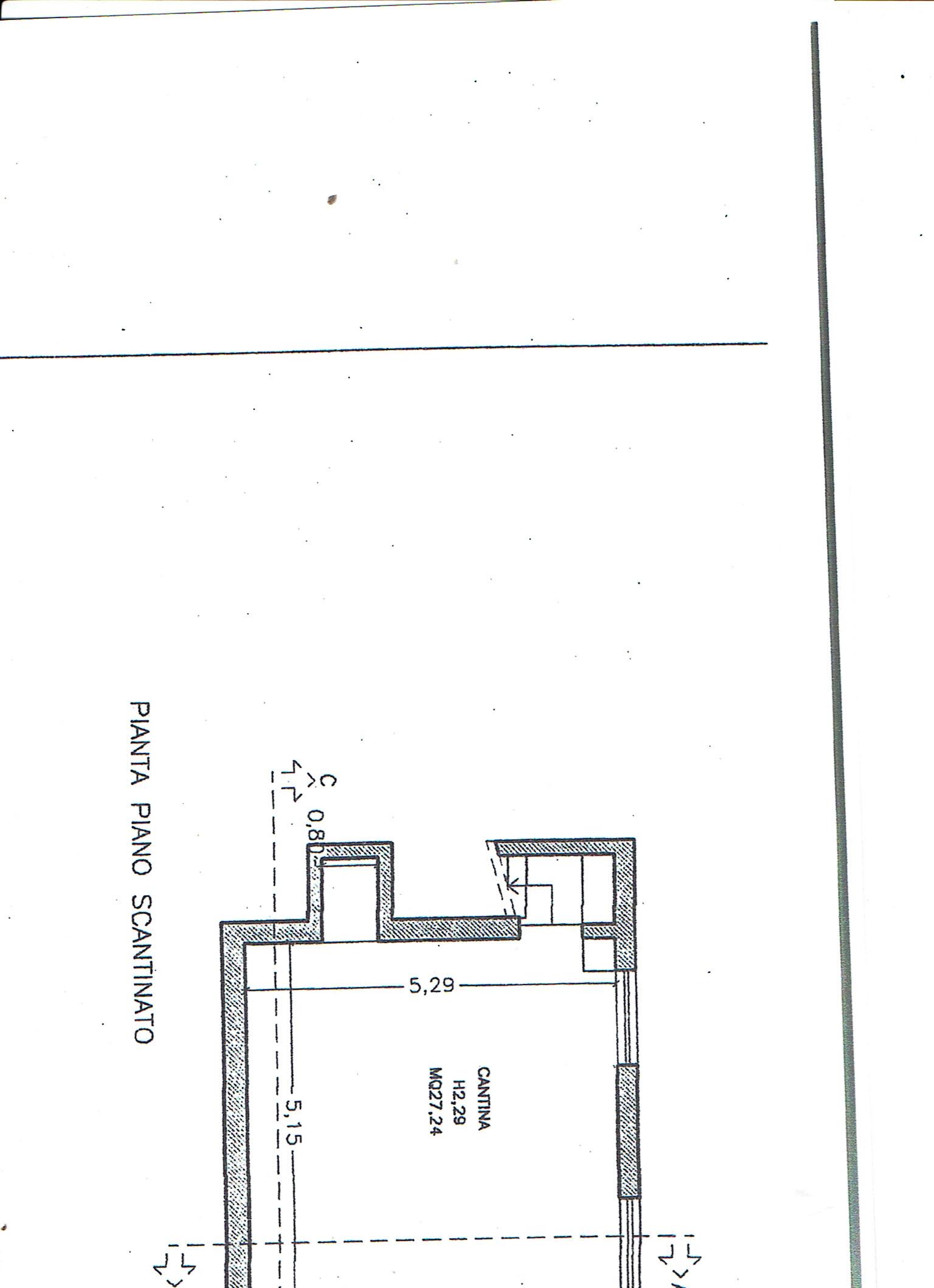 Planimetria 2/3 per rif. 3446C1