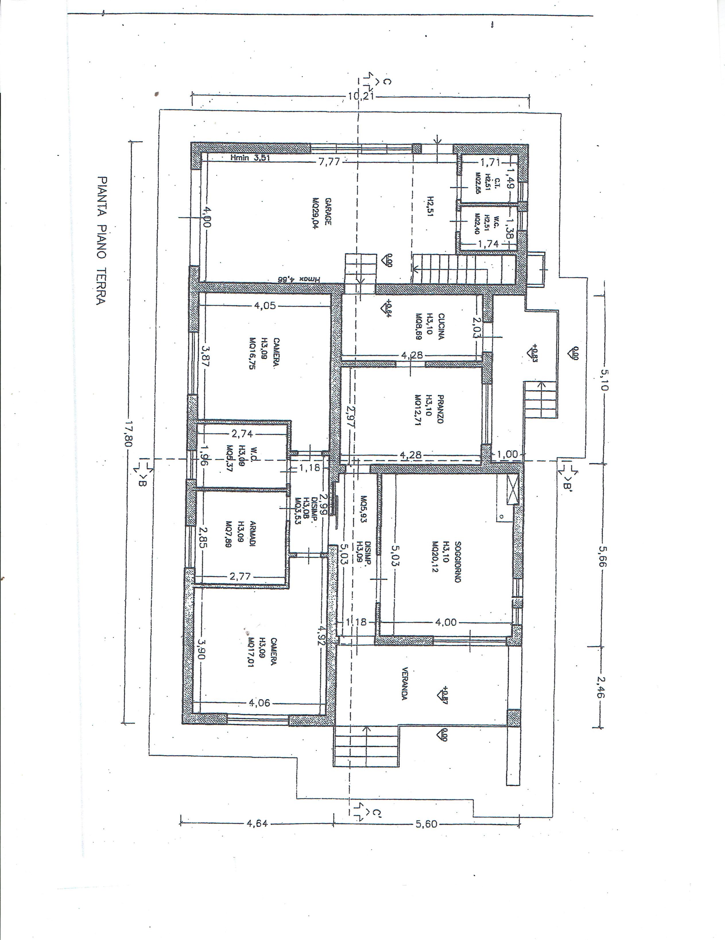 Planimetria 1/3 per rif. 3446C1