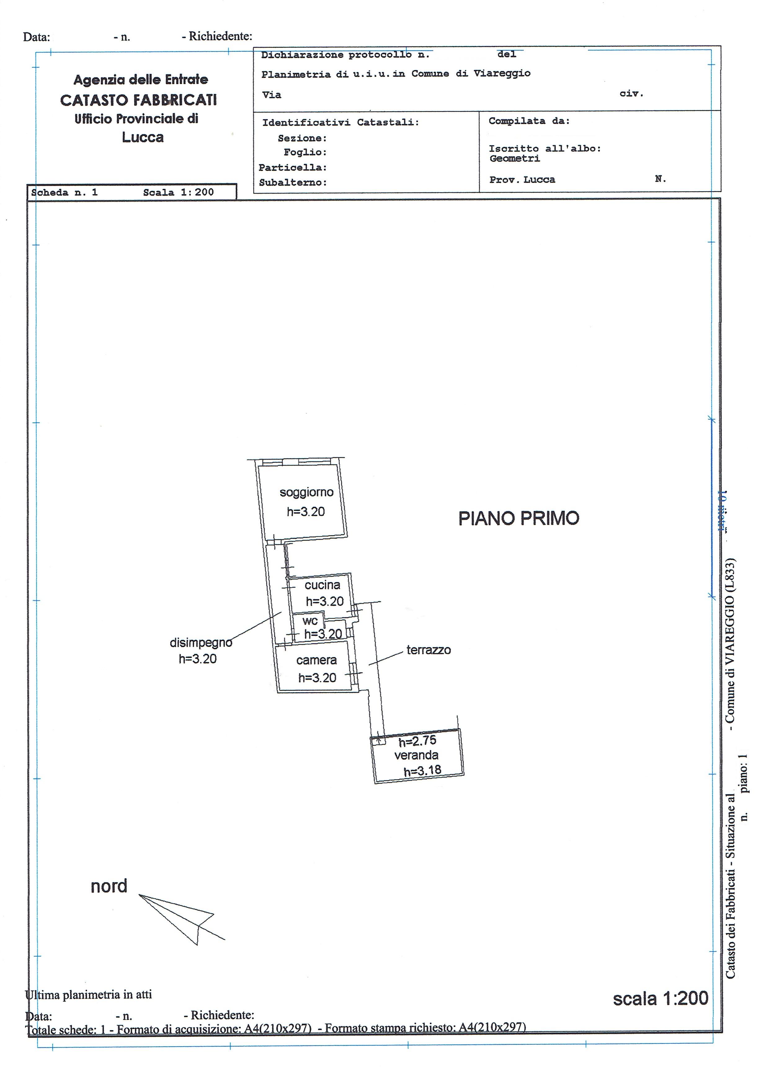 Planimetria 1/1 per rif. 3451V3