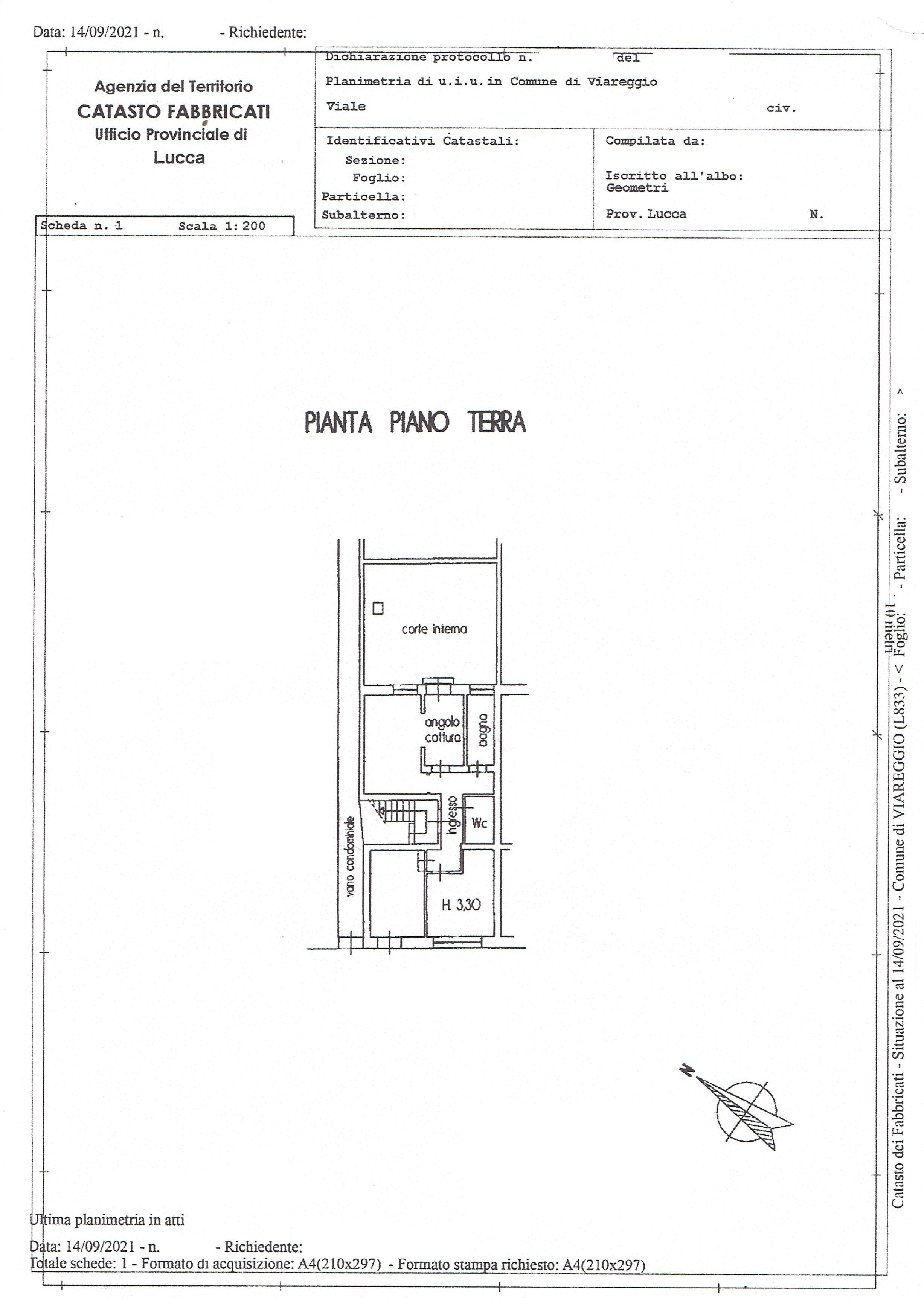 Planimetria 1/1 per rif. 3448V3