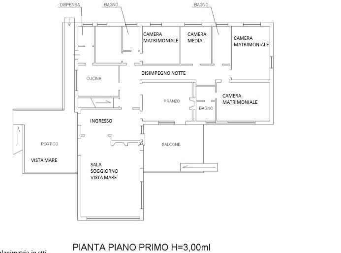 Planimetria 1/3 per rif. 3350M1