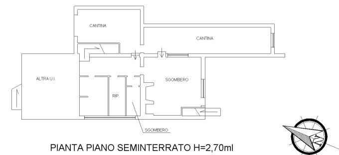 Planimetria 2/3 per rif. 3350M1