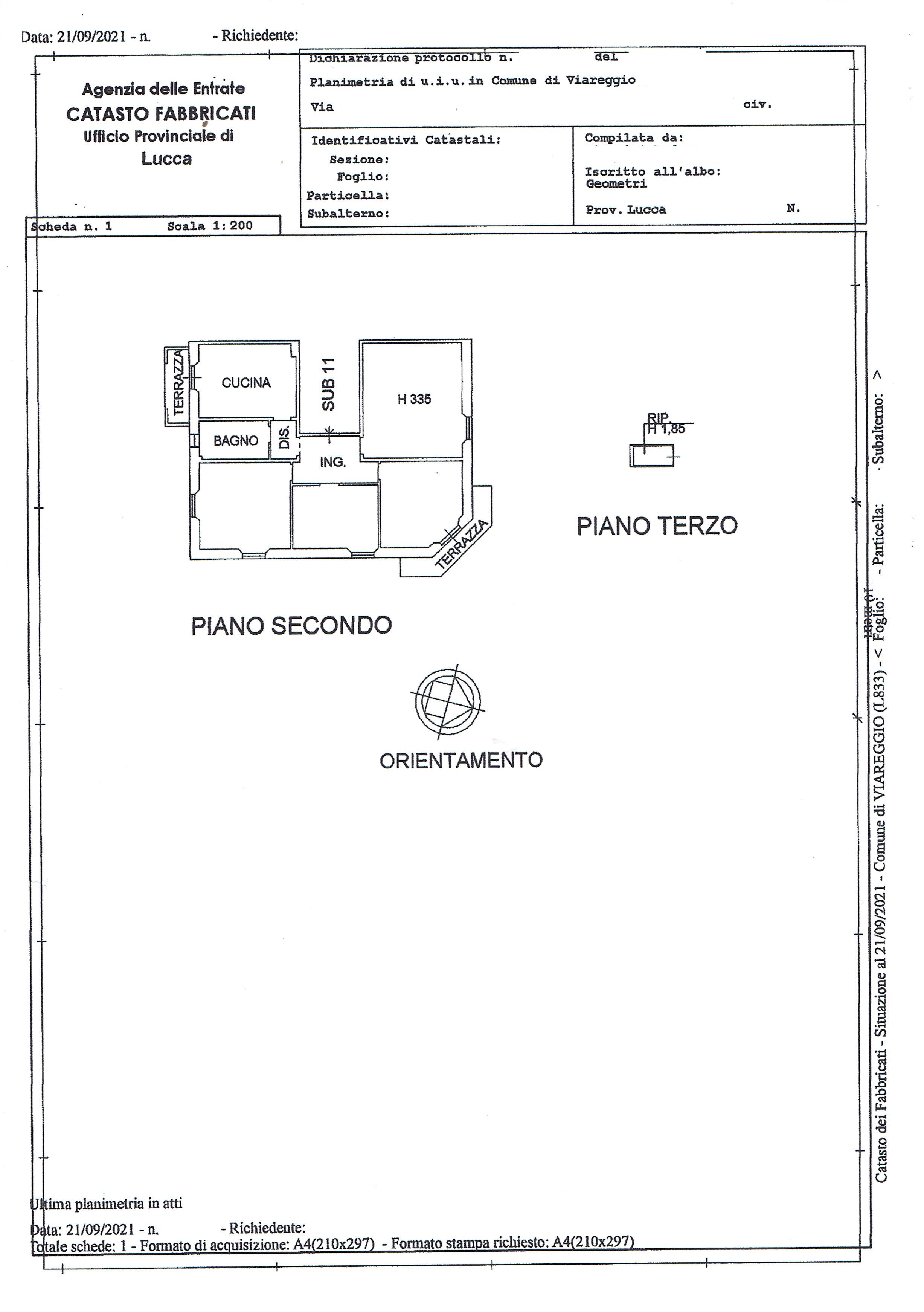 Planimetria 1/1 per rif. 3452V3