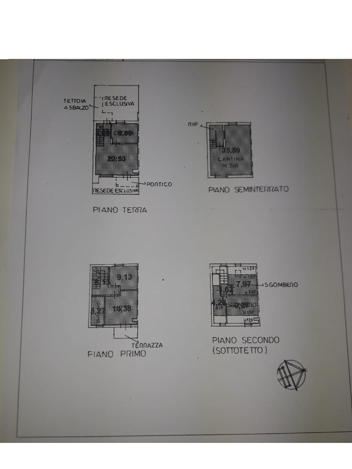 Planimetria 1/1 per rif. 3455M2