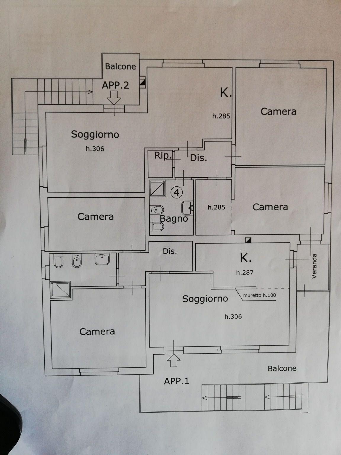 Planimetria 1/2 per rif. C1593