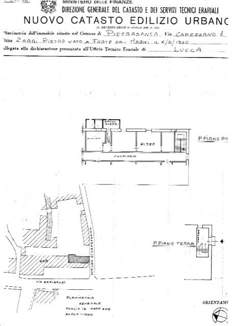 Planimetria 1/1 per rif. 2106