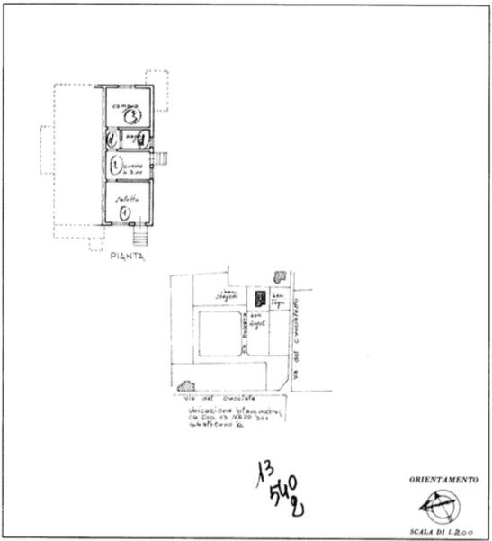 Planimetria 1/2 per rif. 2145