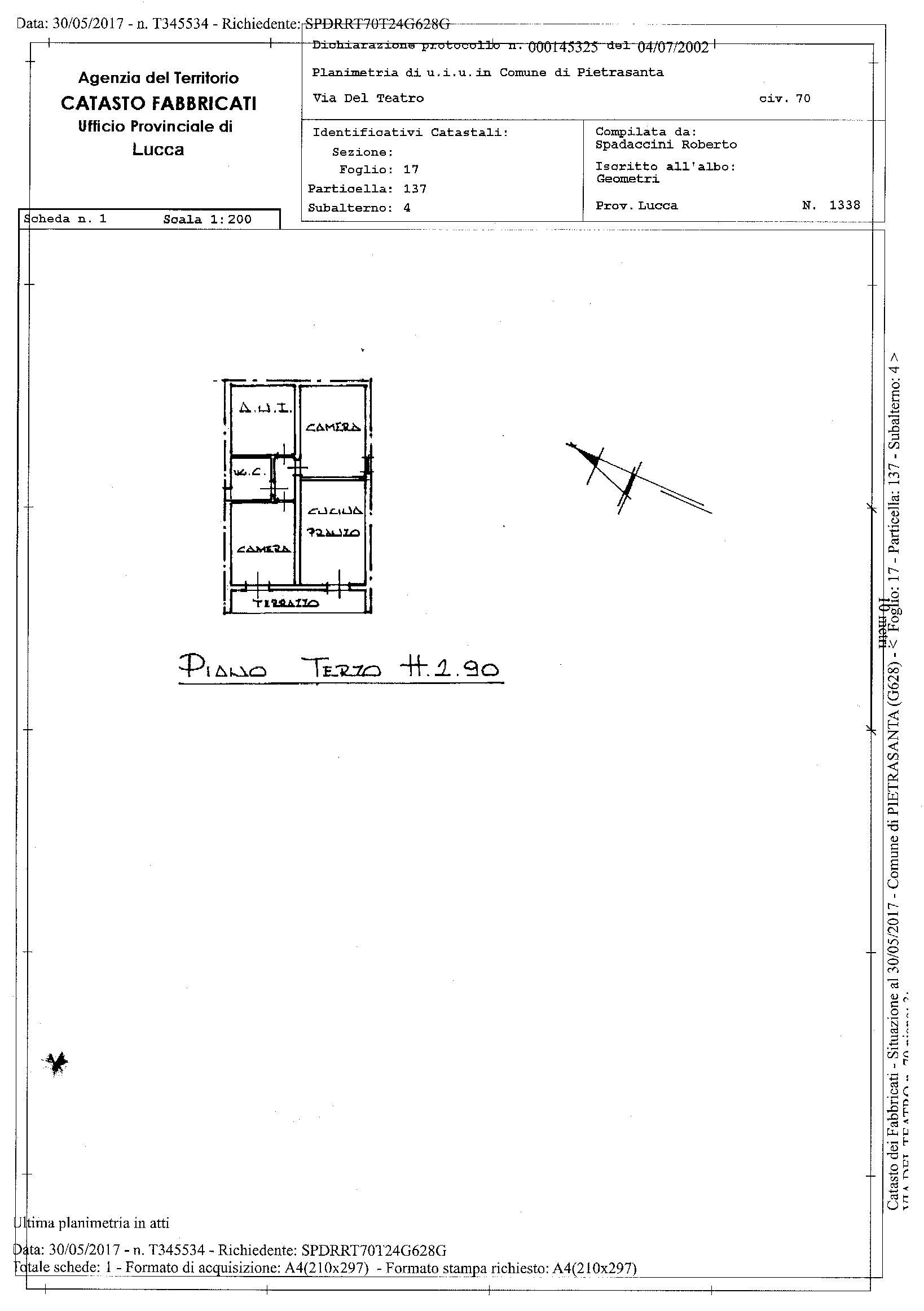 Planimetria 1/1 per rif. 2168
