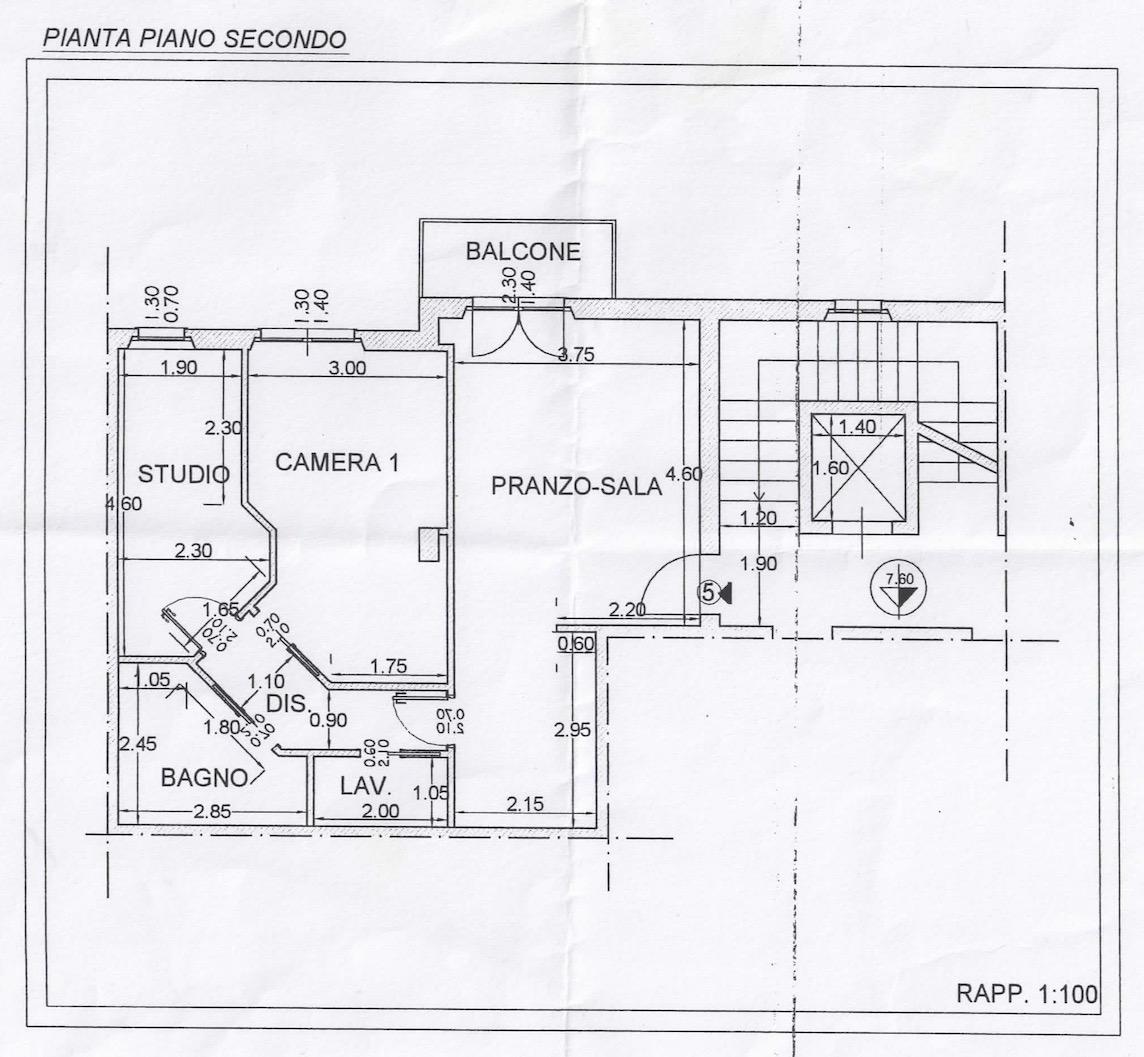 Planimetria 1/1 per rif. 2200