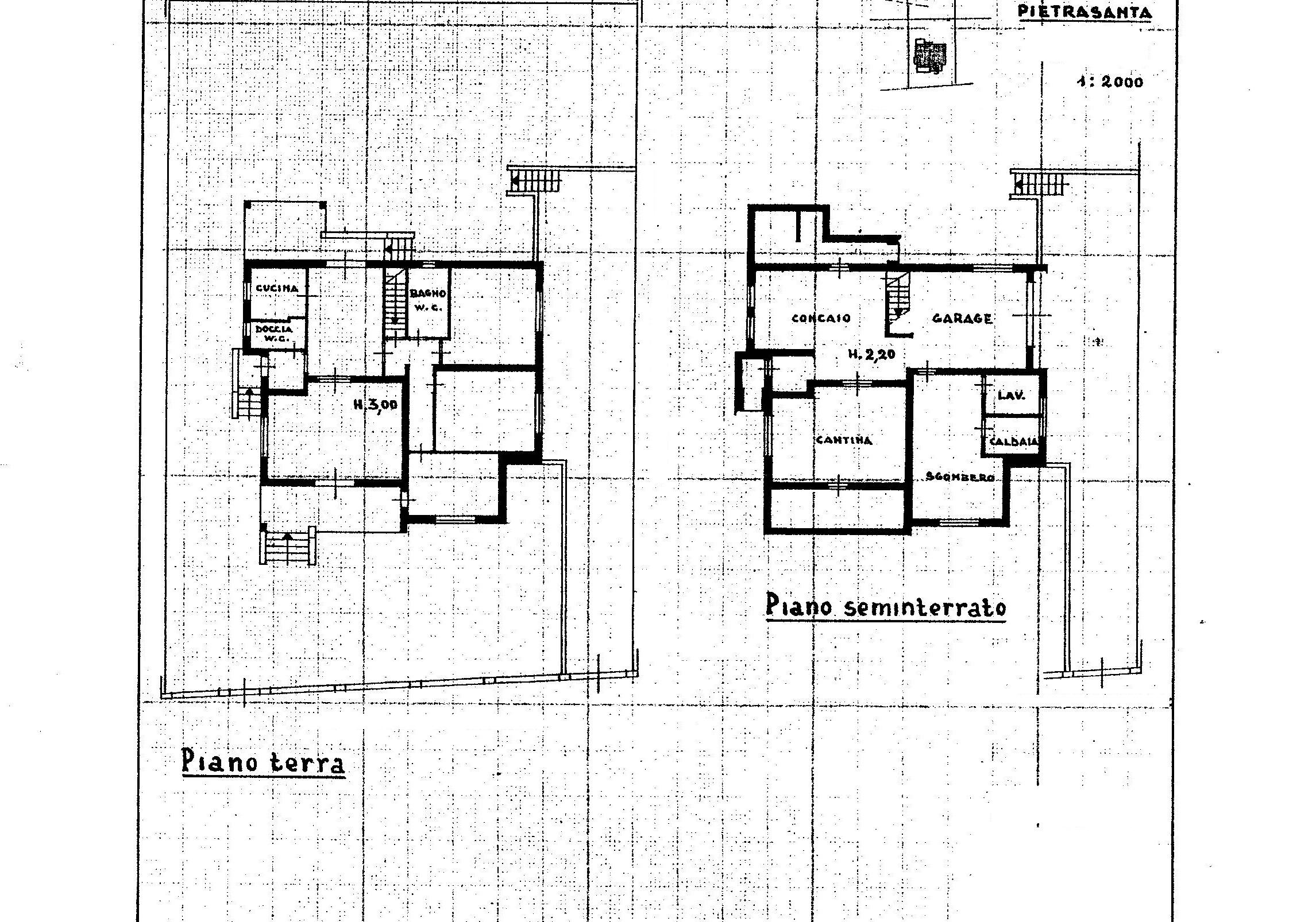 Planimetria 1/1 per rif. 2201