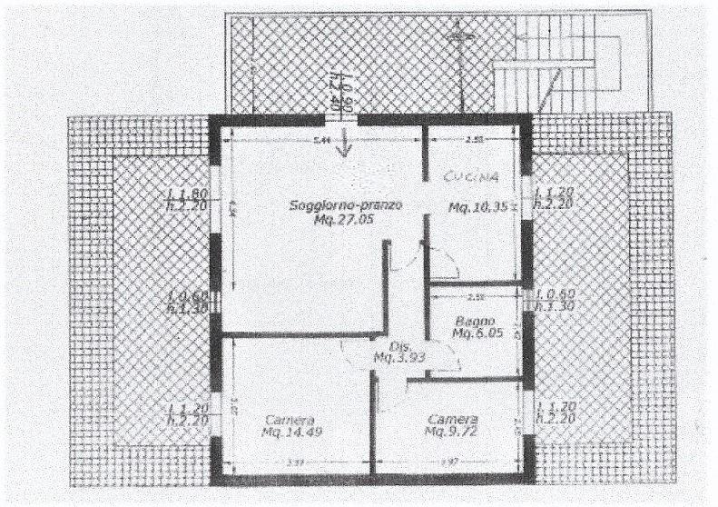 Planimetria 2/3 per rif. 3573